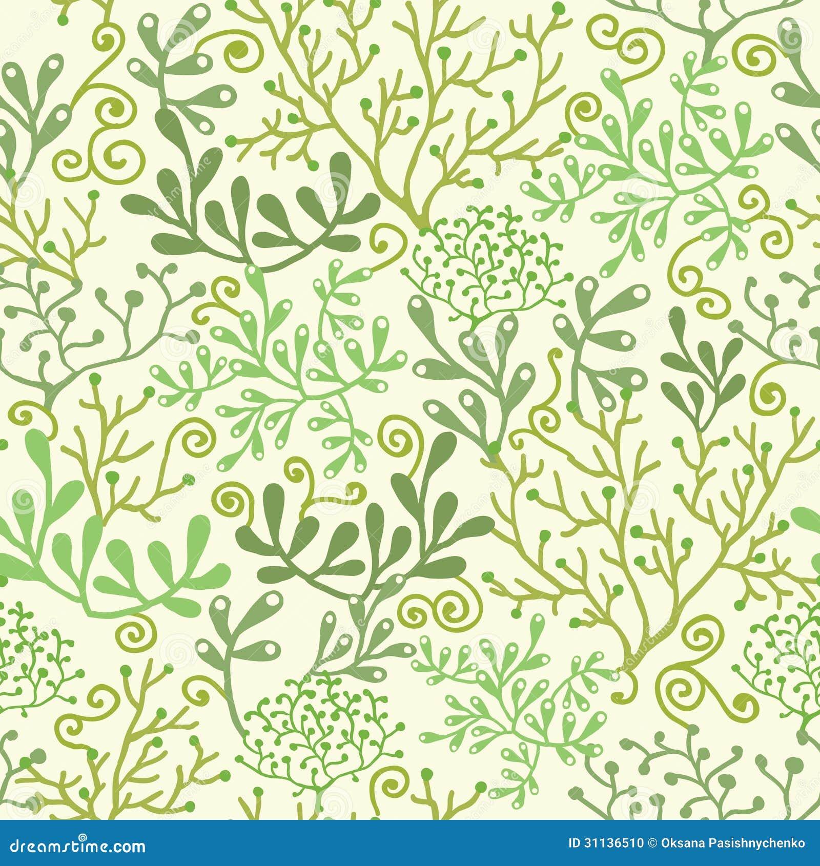 underwater seaweed garden seamless pattern stock vector seaweed vector outline seaweed vector download