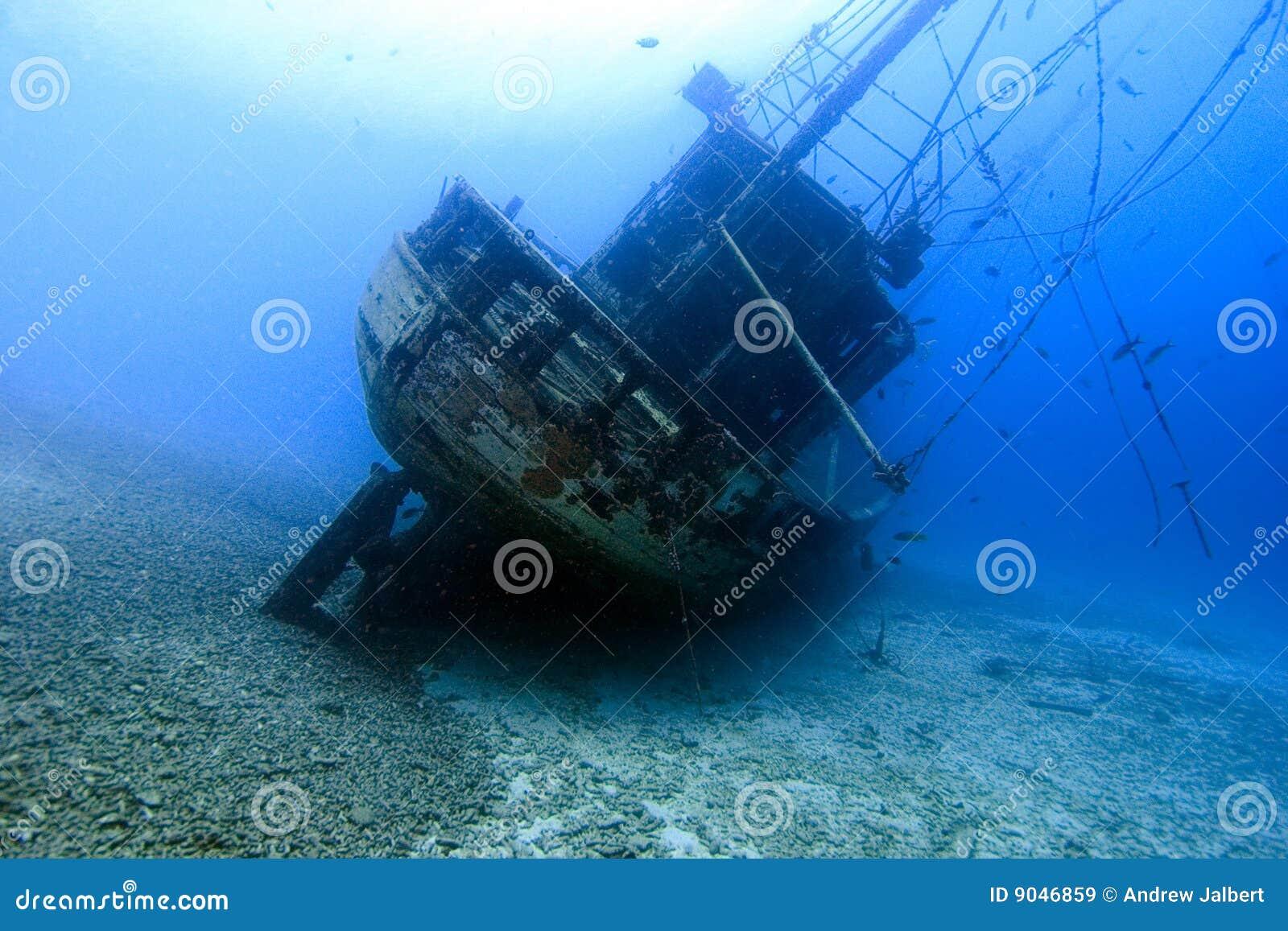 Underwater Shipwreck, Bonaire