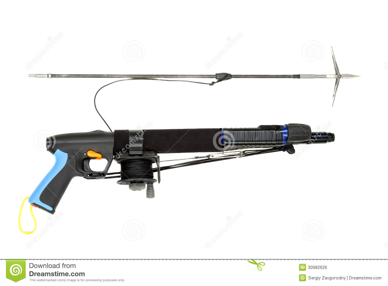Underwater Speargun. Royalty Free Stock Image