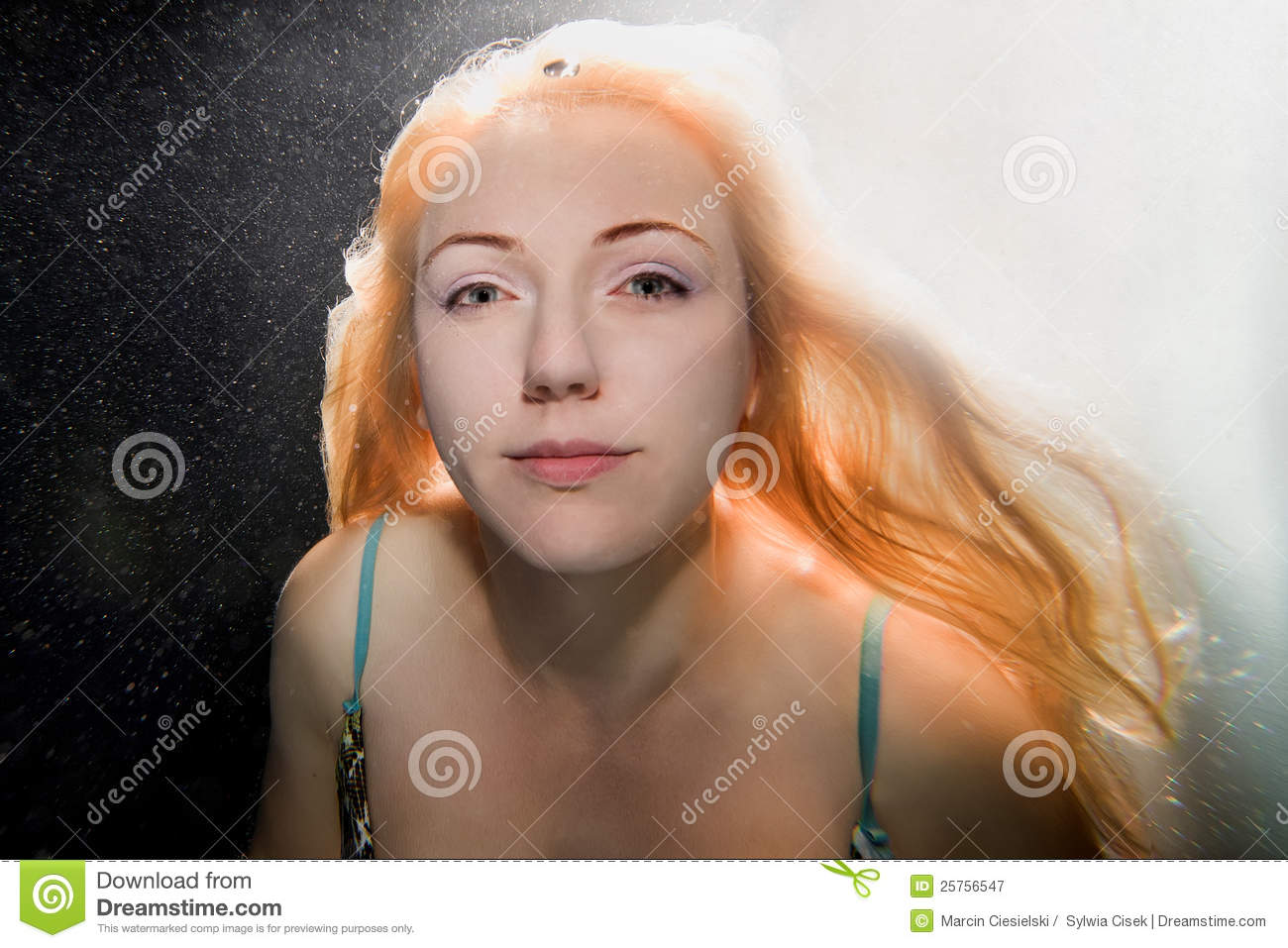 underwater woman royalty free stock photography