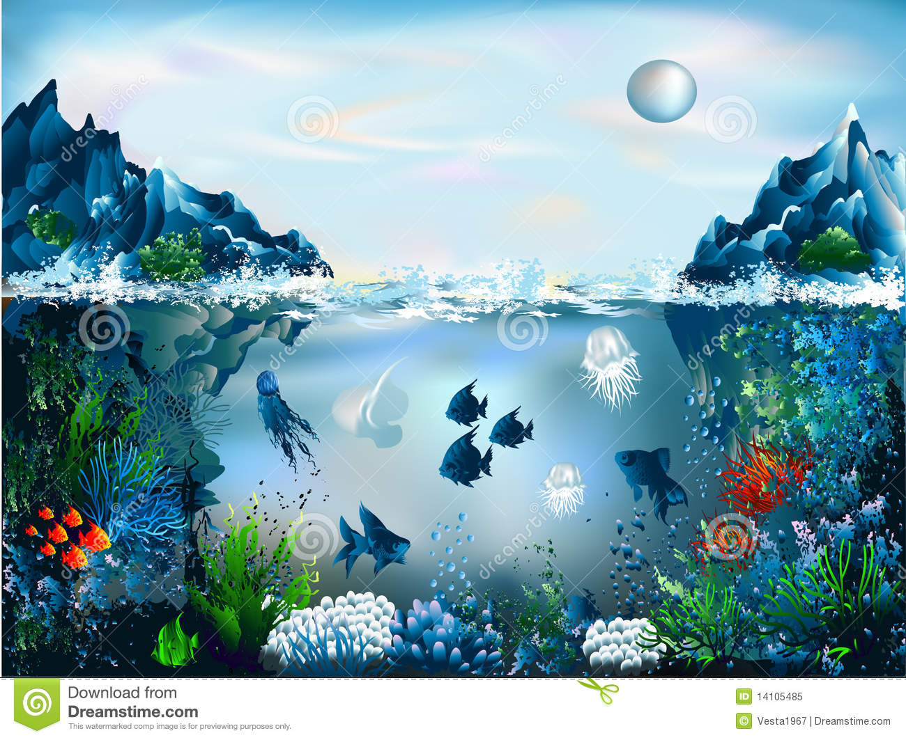 Underwater World Royalty Free Stock Photo - Image: 14105485