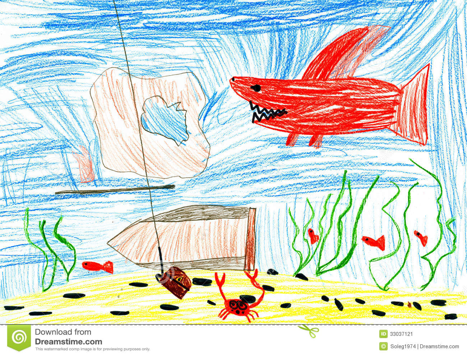 Underwater World Pack ~ Graphics ~ Creative Market  Underwater World Drawings