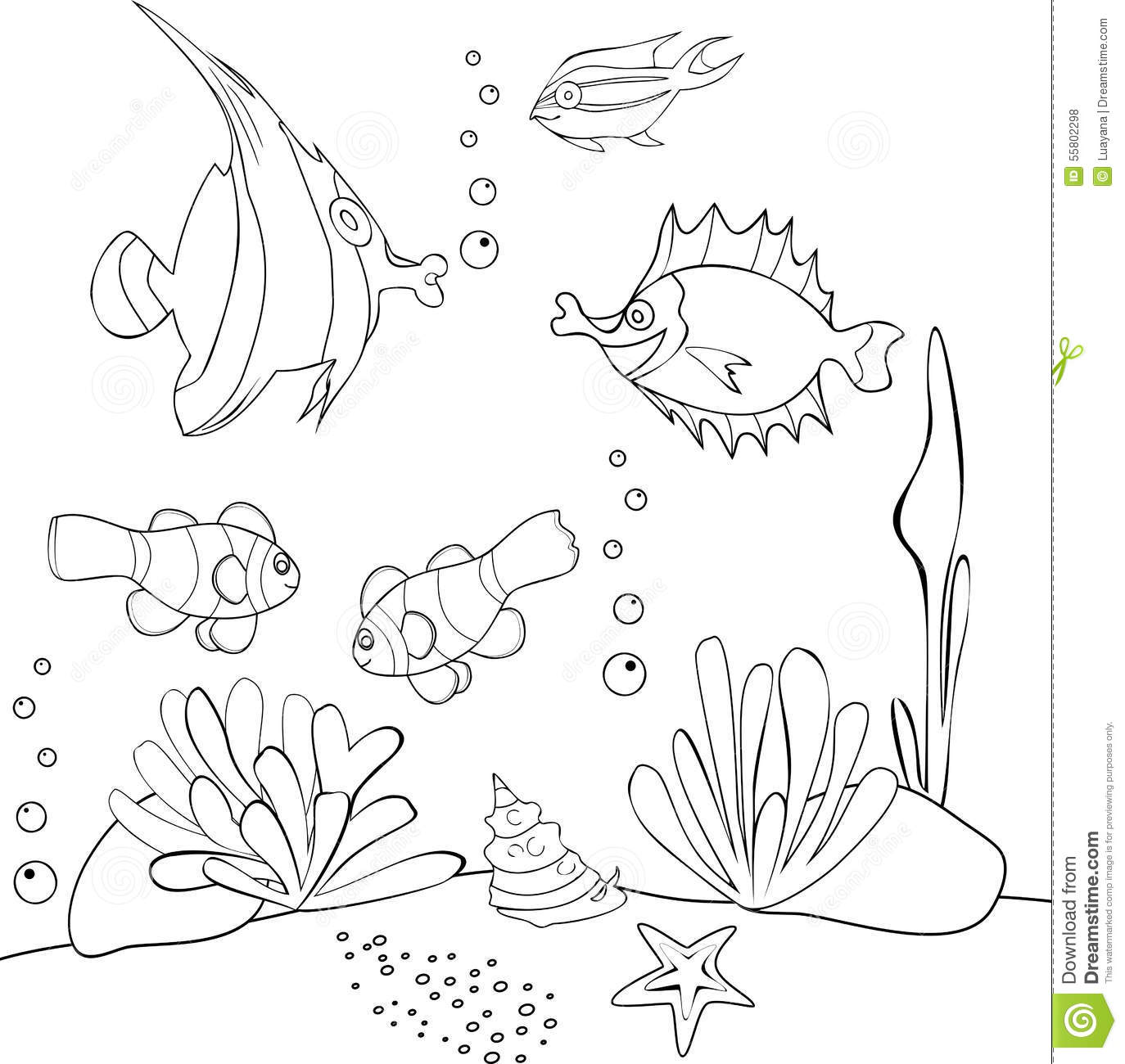 underwater world stock vector image 55802298