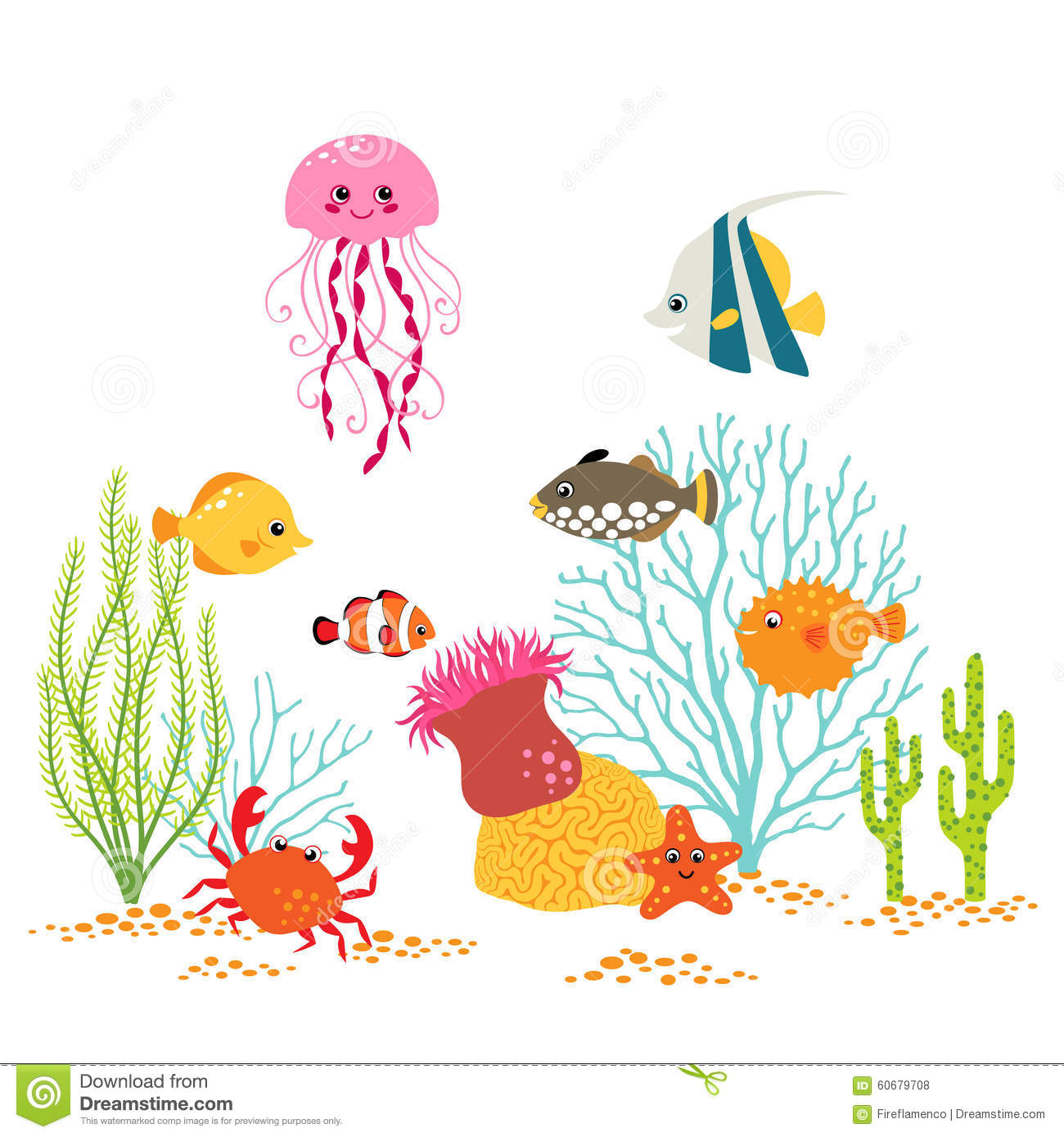 underwater world design stock vector image 60679708