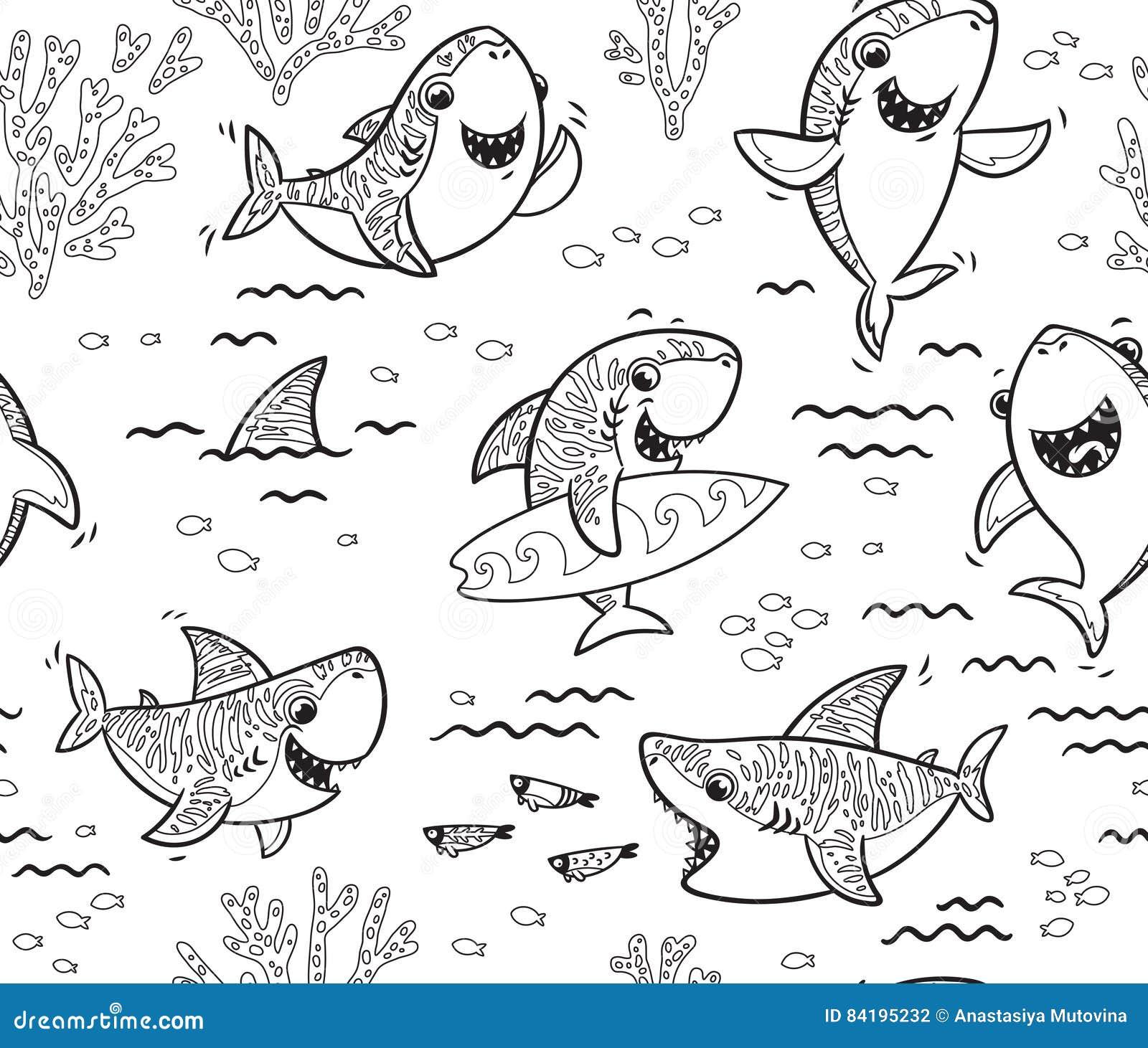 Cartoon Smiling Baby Shark Stock Photography ...