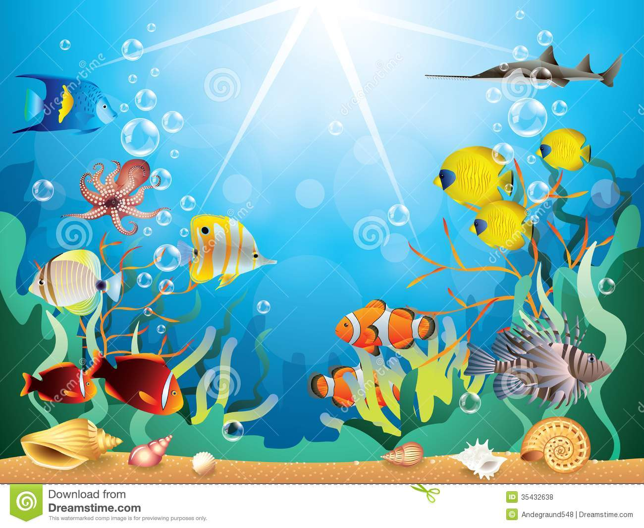 Underwater Plants Clipart