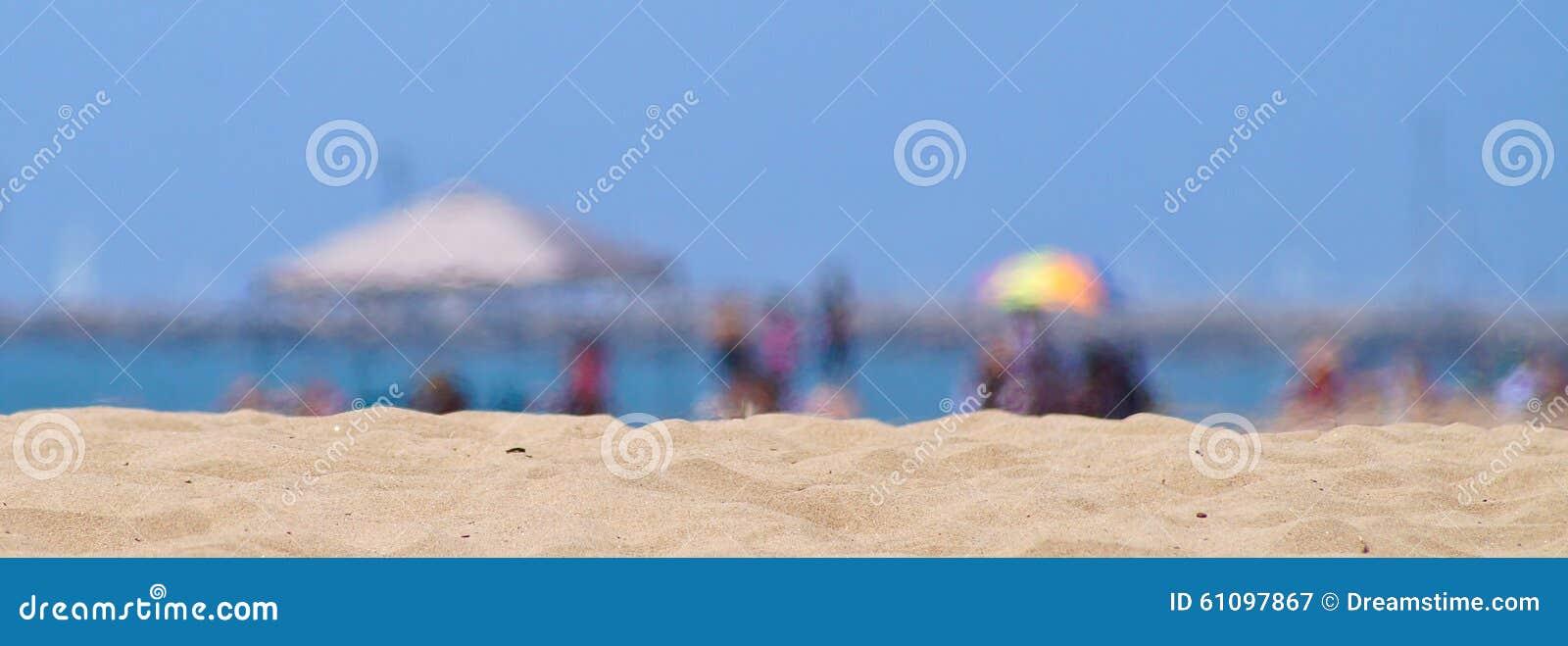 Undeutliche Hitzewellen am Strand
