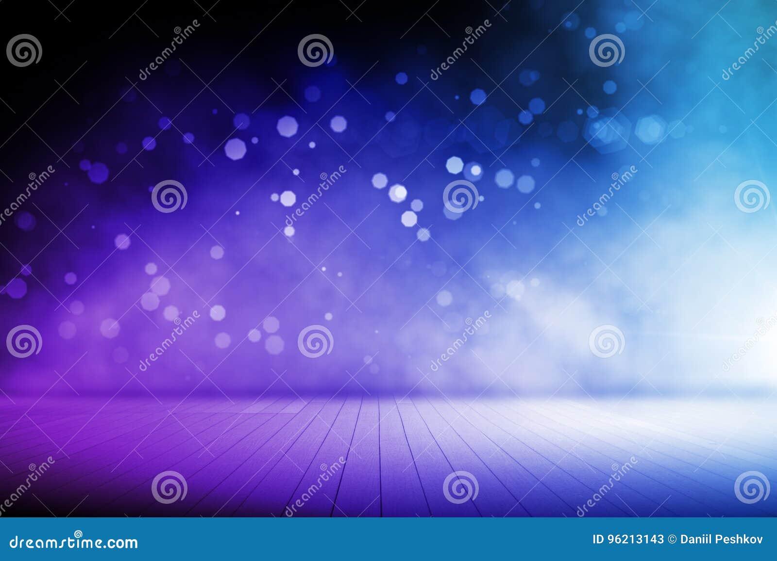 Undeutlicher blauer Stadiumsinnenraum