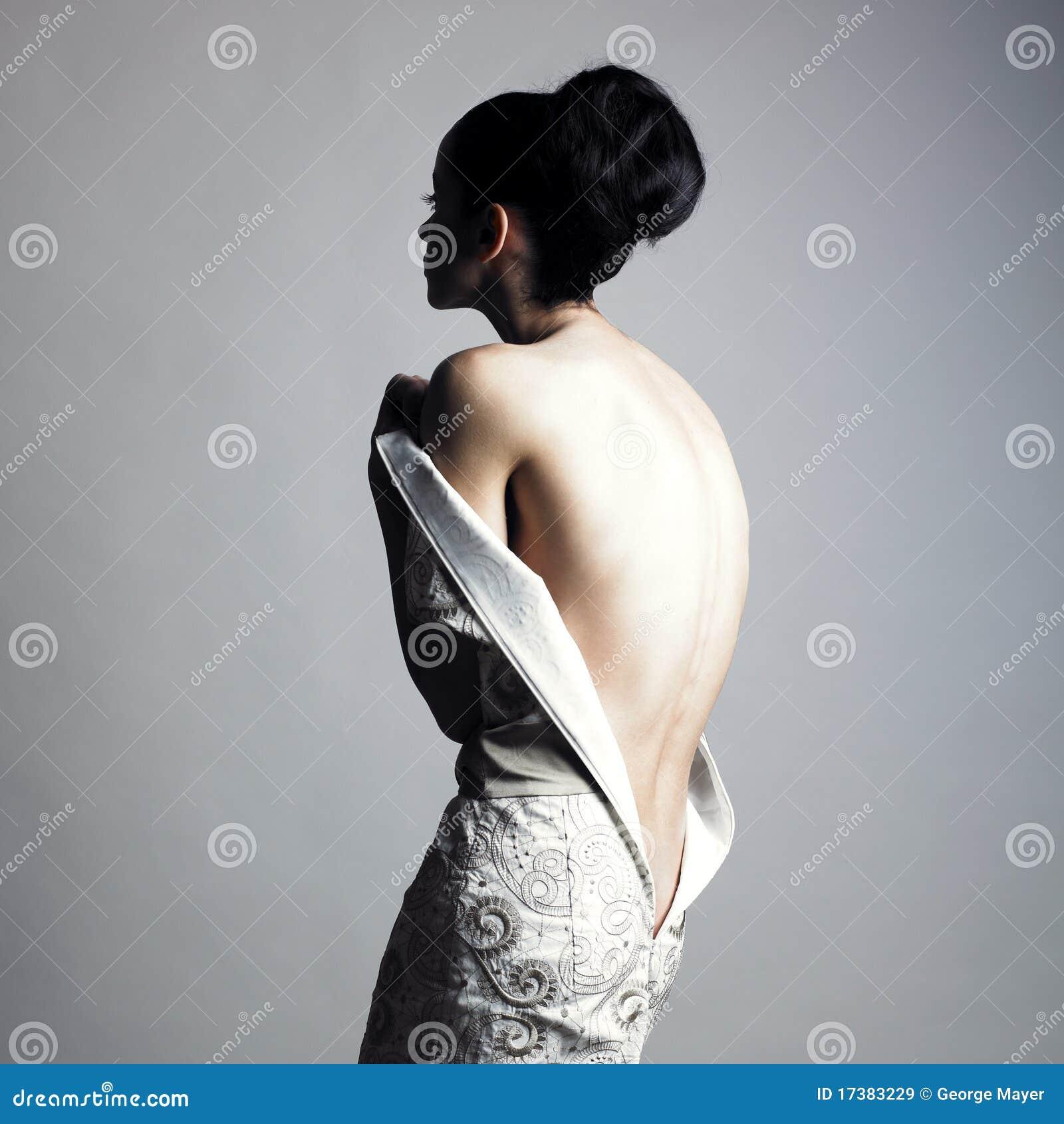 Elegant women undressing