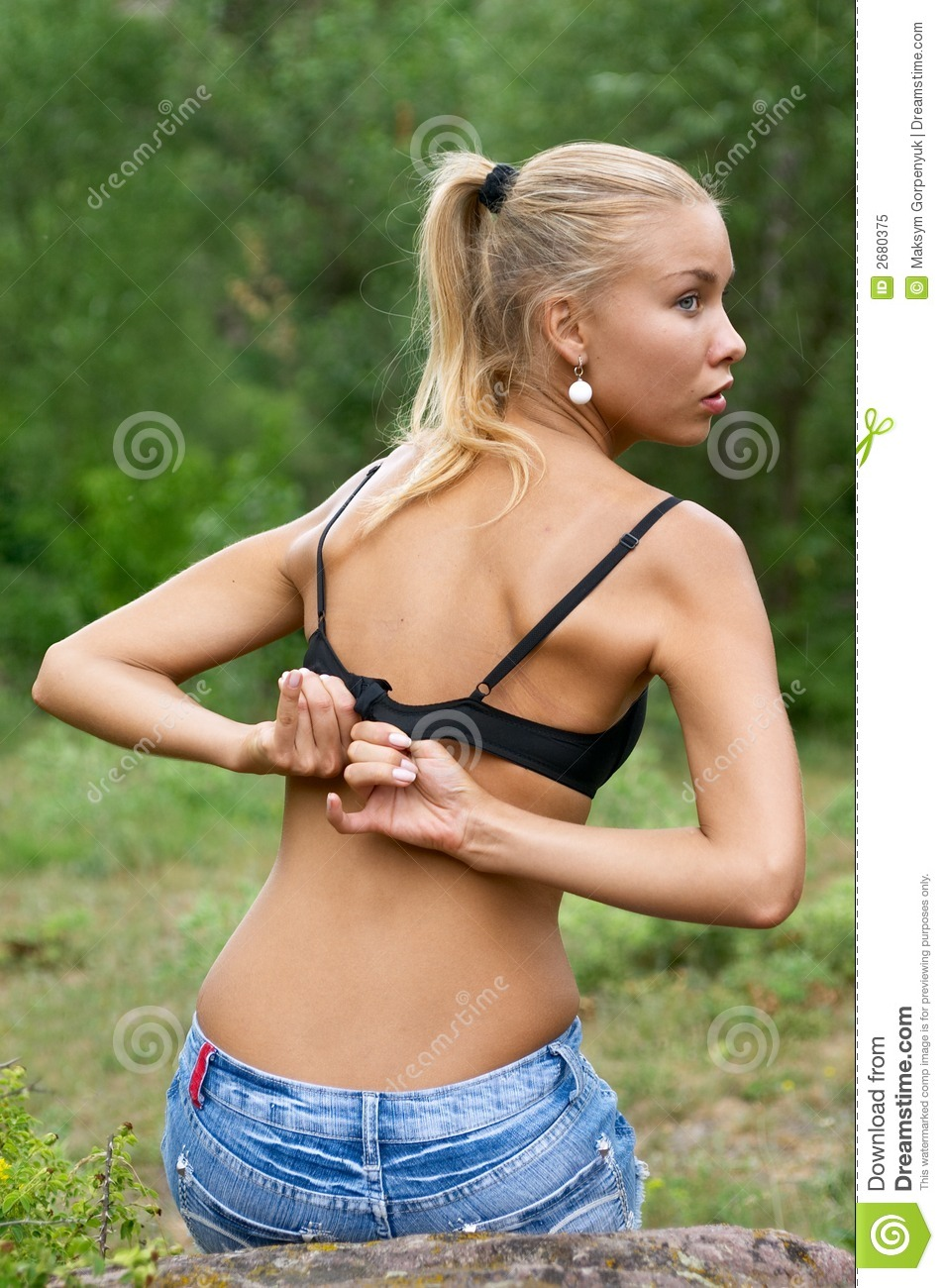 undressing blonde woman stock image. image of blonde, beautiful