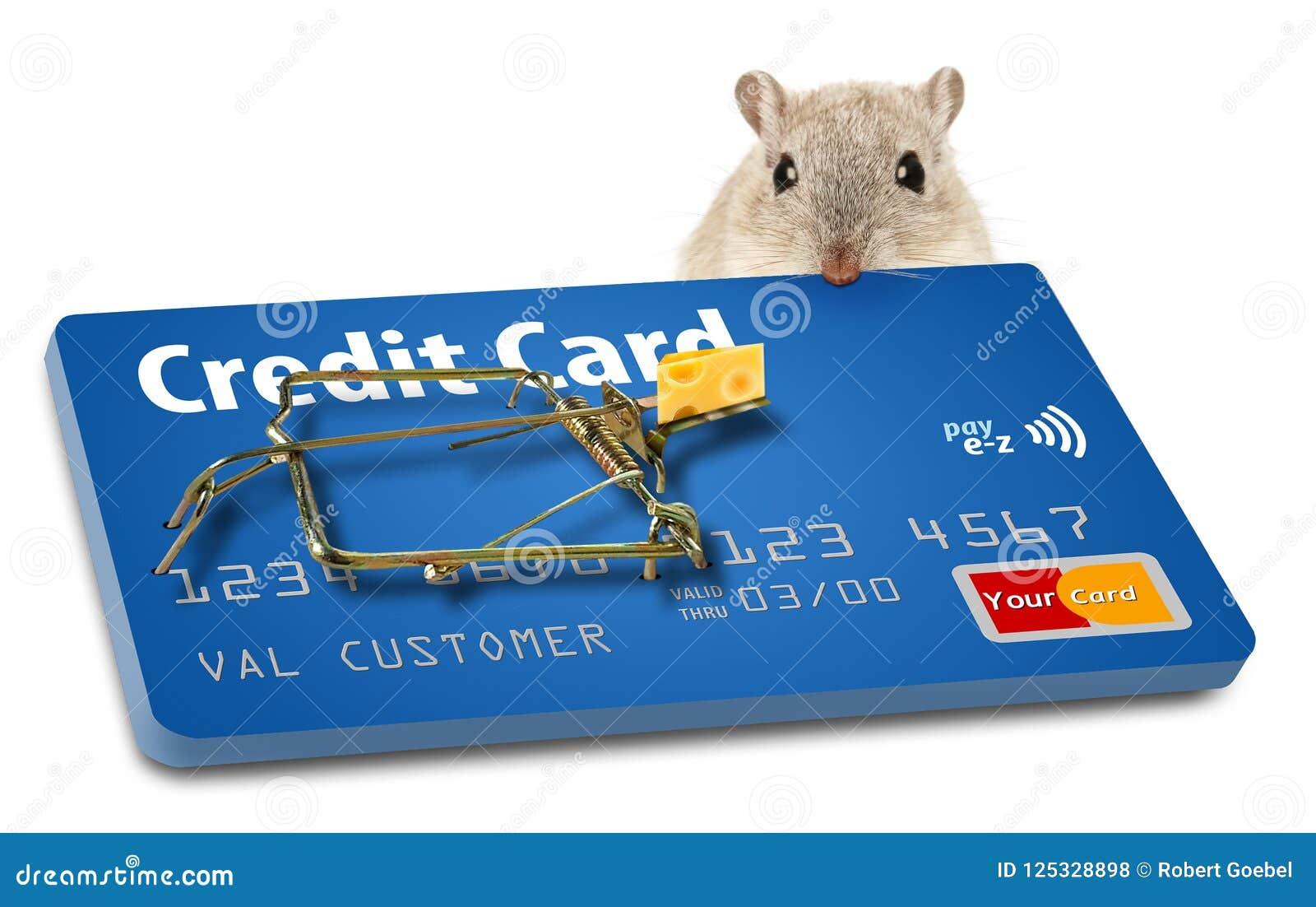 Undvik kreditkortfällor En agnad råttfälla gör denna punkt