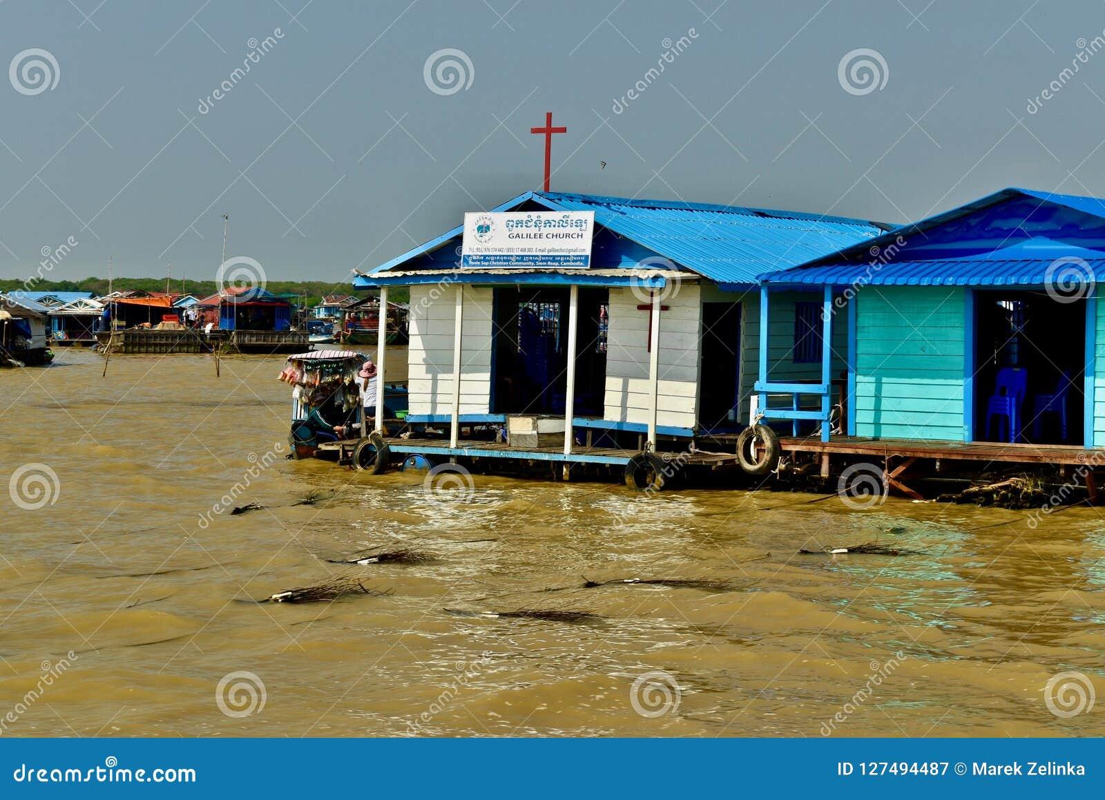 Une église au village de flottement