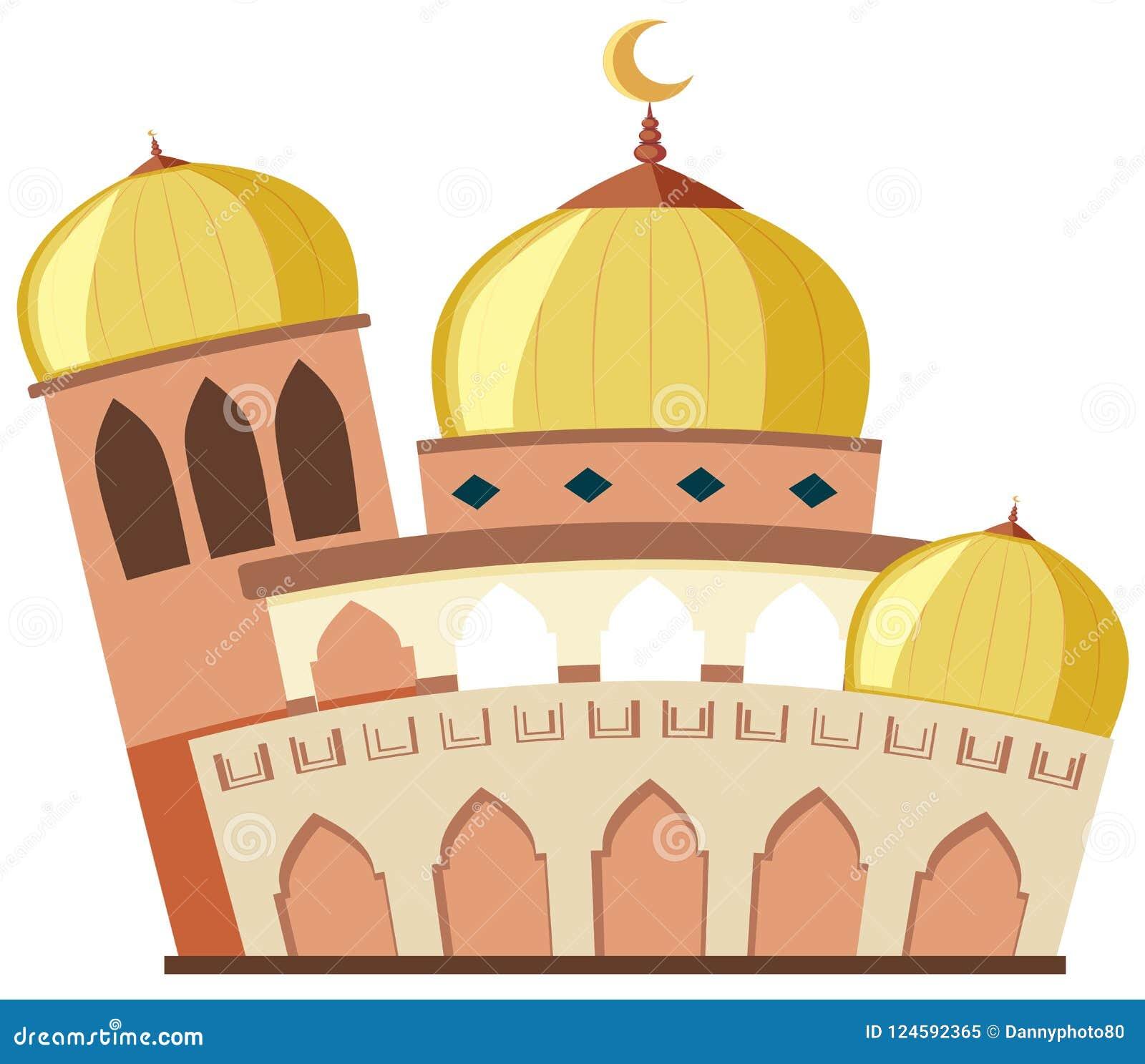 Une belle mosquée sur le fond blanc