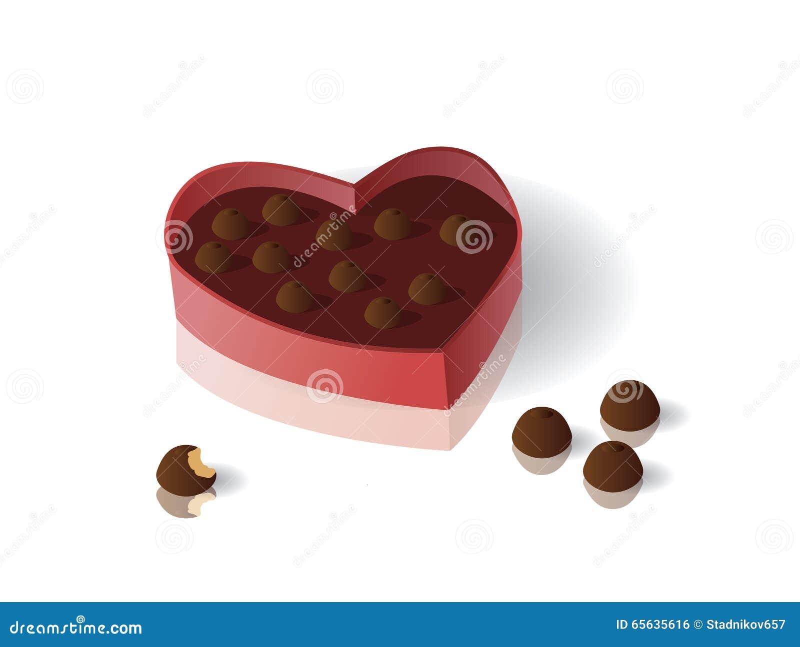 Une boîte de chocolats pour la Saint-Valentin