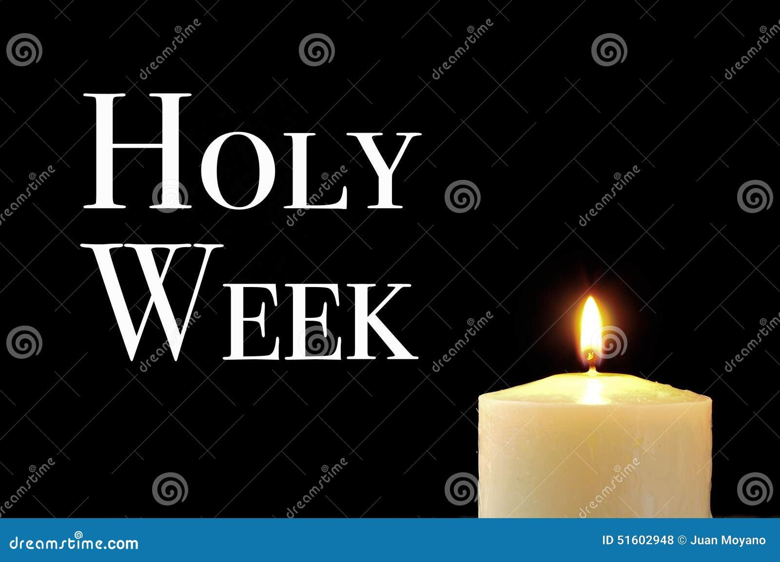 Une bougie allumée et la semaine sainte des textes