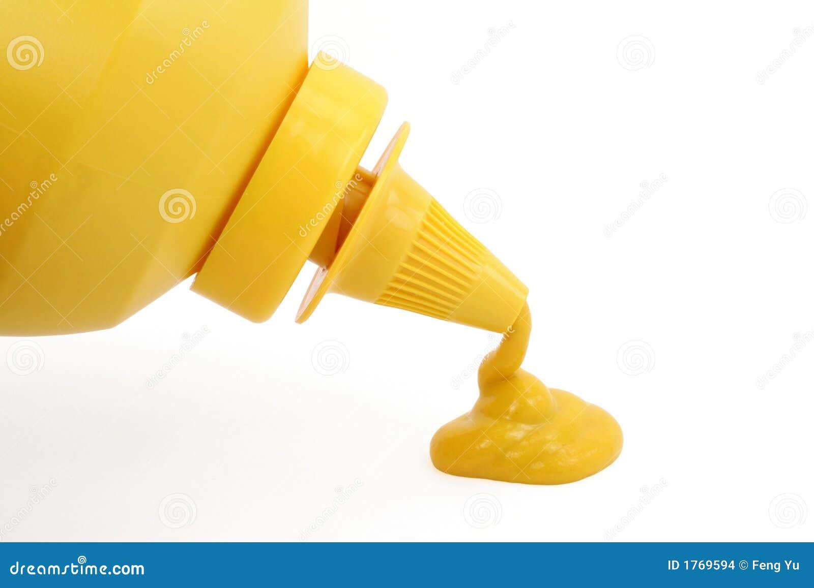 Une bouteille de moutarde jaune photo stock image 1769594 for Cuisine jaune moutarde