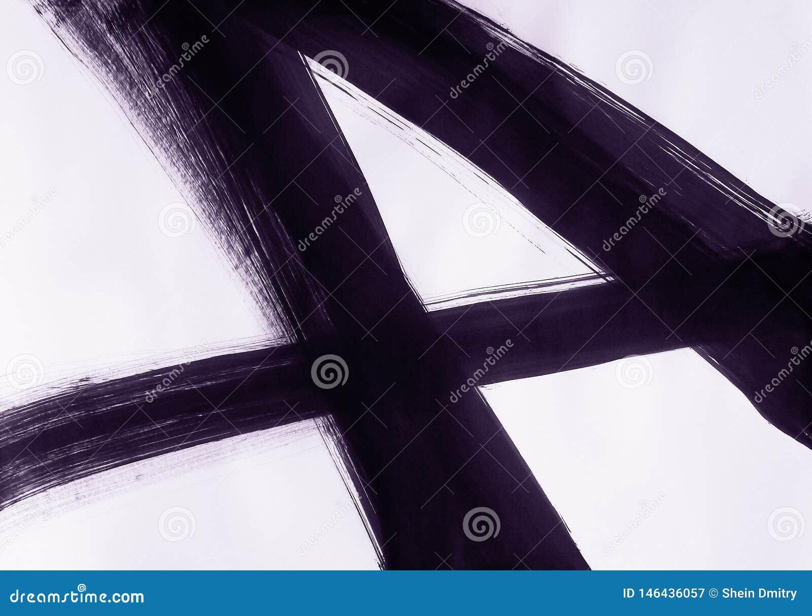Une brosse dessin?e directement trois lignes de intersection et former le num?ro quatre