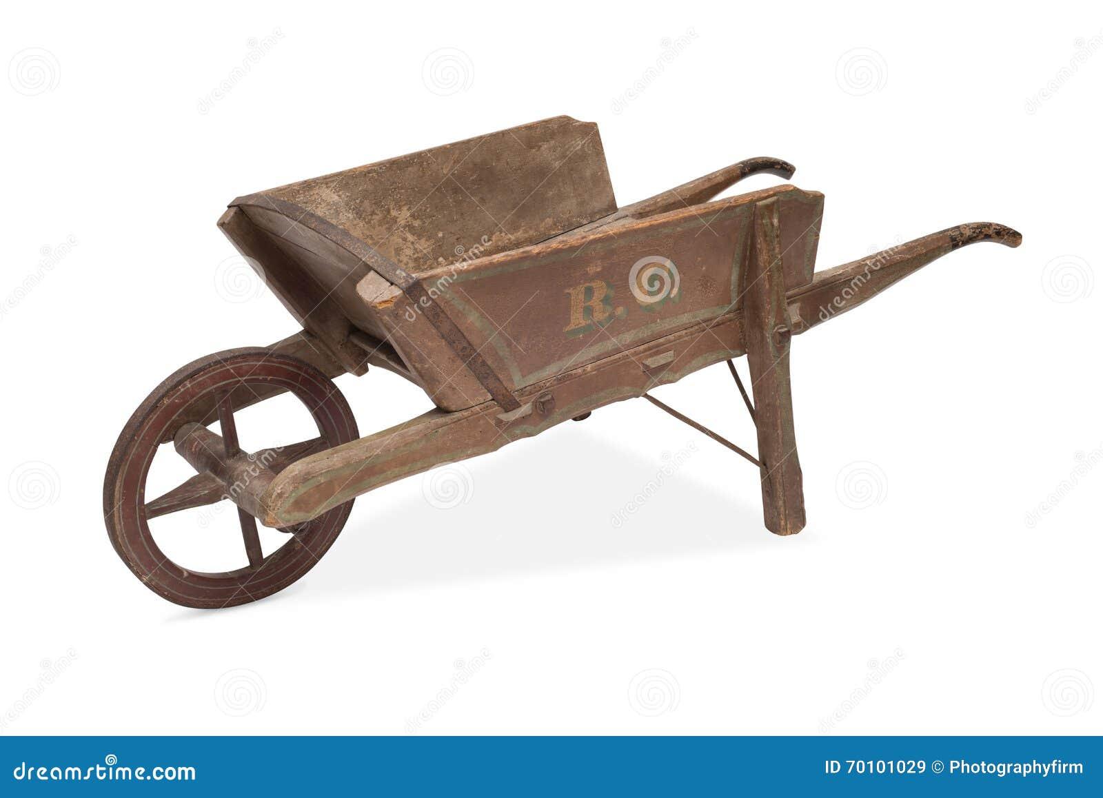 une brouette antique image stock image du wooden modifi 70101029. Black Bedroom Furniture Sets. Home Design Ideas