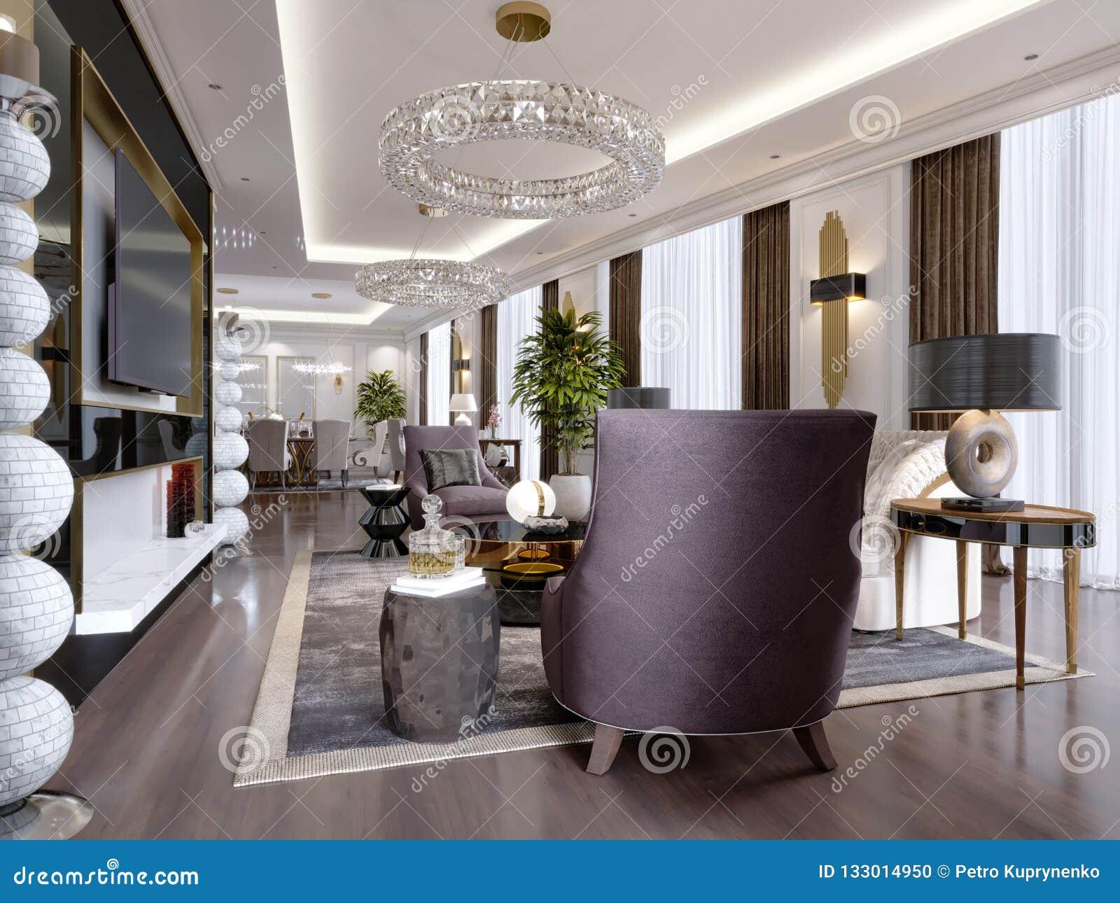 Une Chambre D Hotel Avec Un Salon Et Une Salle A Manger Et Des