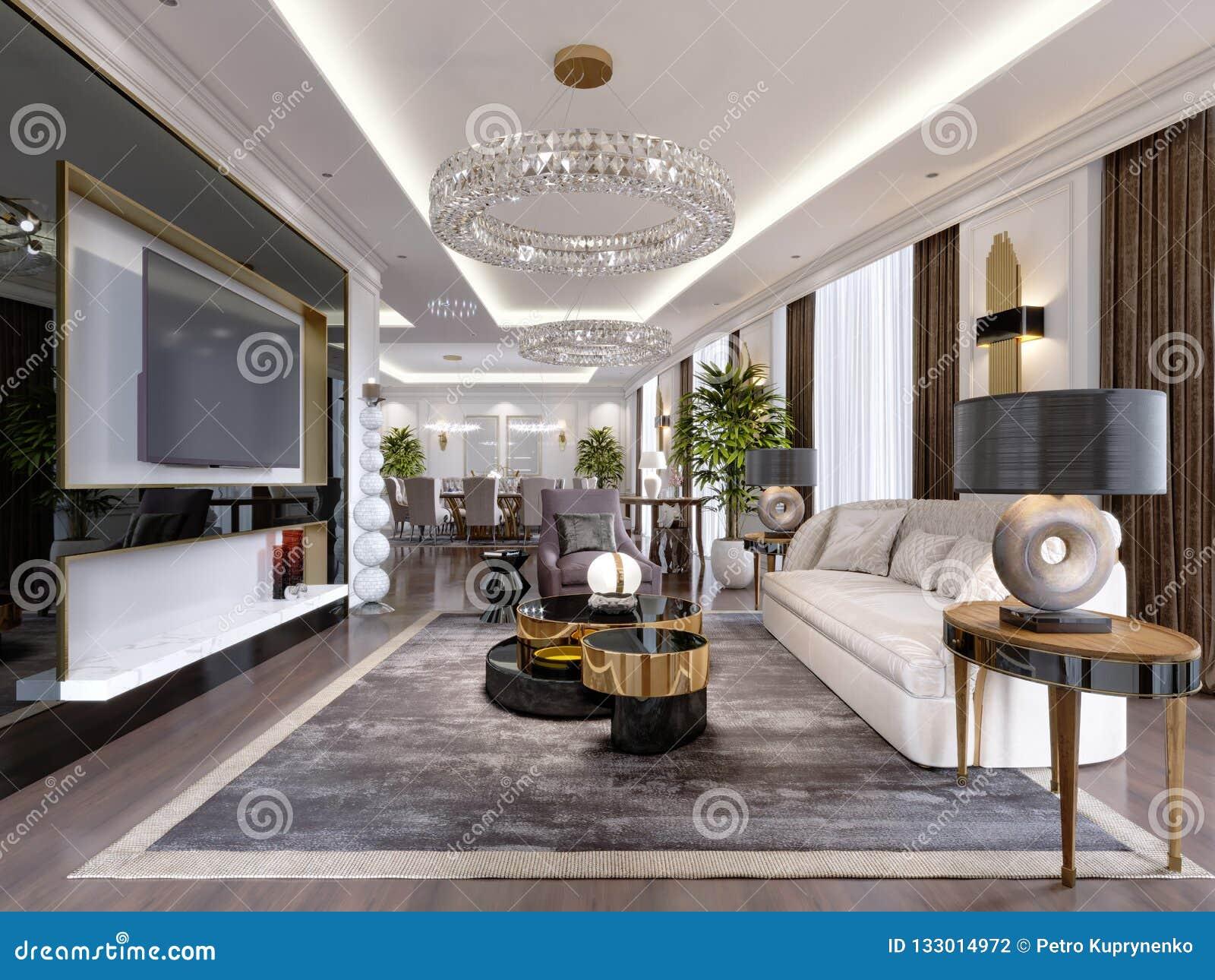 Une Chambre D\'hôtel Avec Un Salon Et Une Salle à Manger Et ...