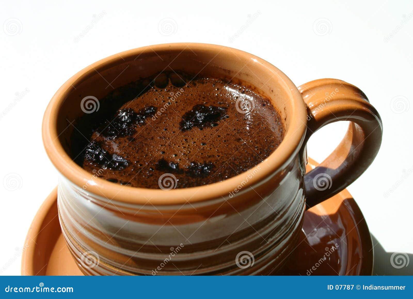 Une cuvette de café