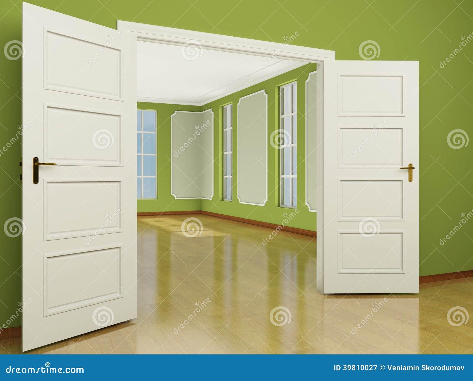 Une Entrée Grande Ouverte De Porte Au Salon Dans Le Style ...
