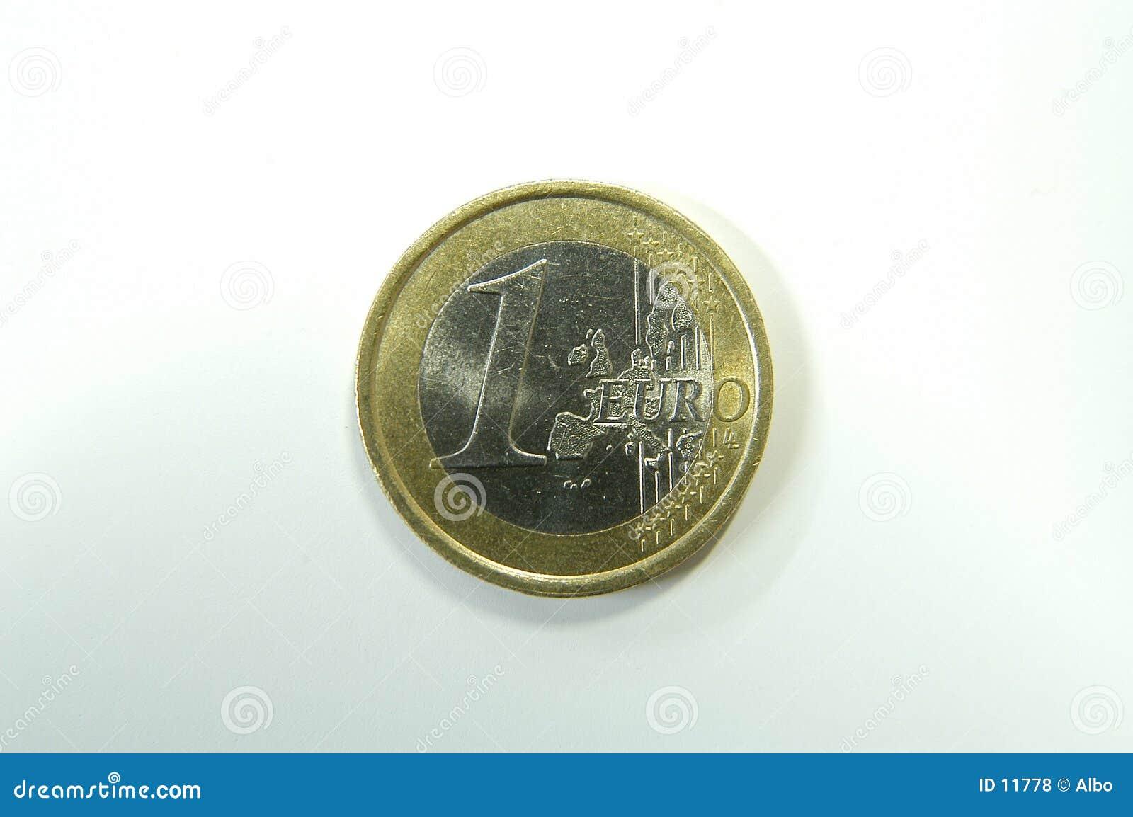 Une euro pièce de monnaie