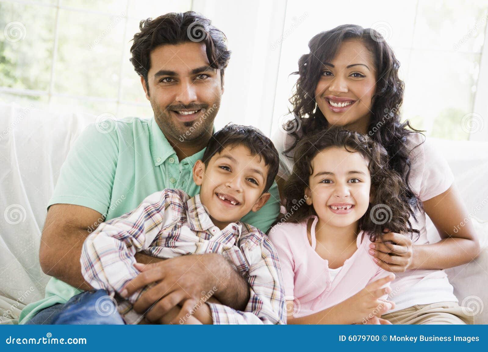 Une famille du Moyen-Orient