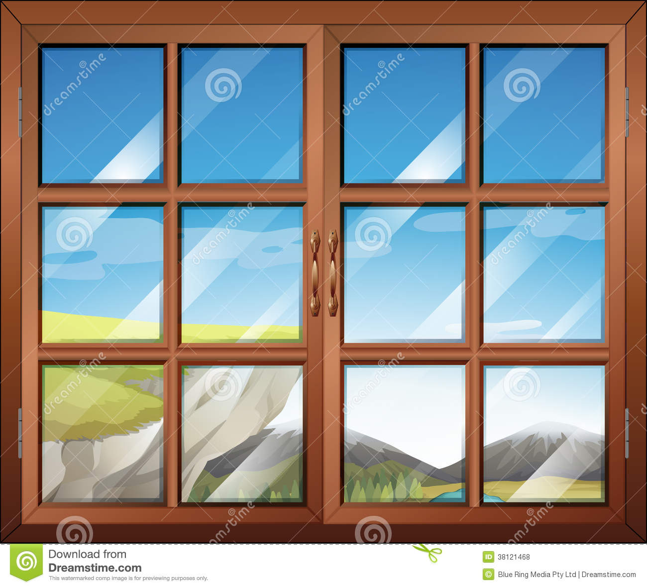Une fen tre ferm e illustration de vecteur illustration for Affichage fenetre miniature windows 7