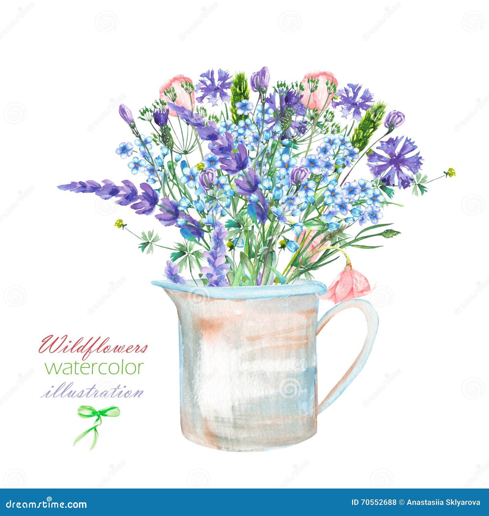 Une illustration avec un bouquet de la beaux fleur de for Bouquet de fleurs lumineux