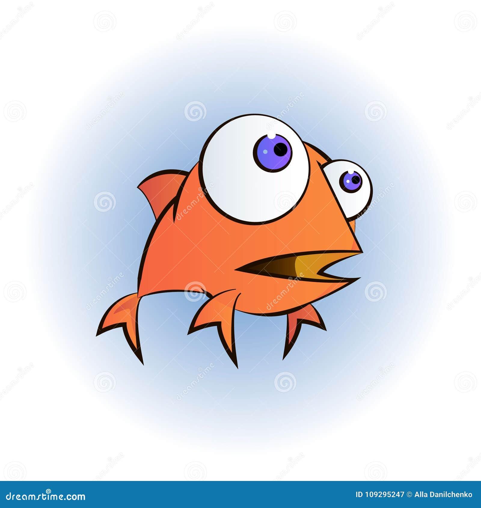 Une illustration d 39 un personnage de dessin anim heureux - Dessin de poisson rouge ...