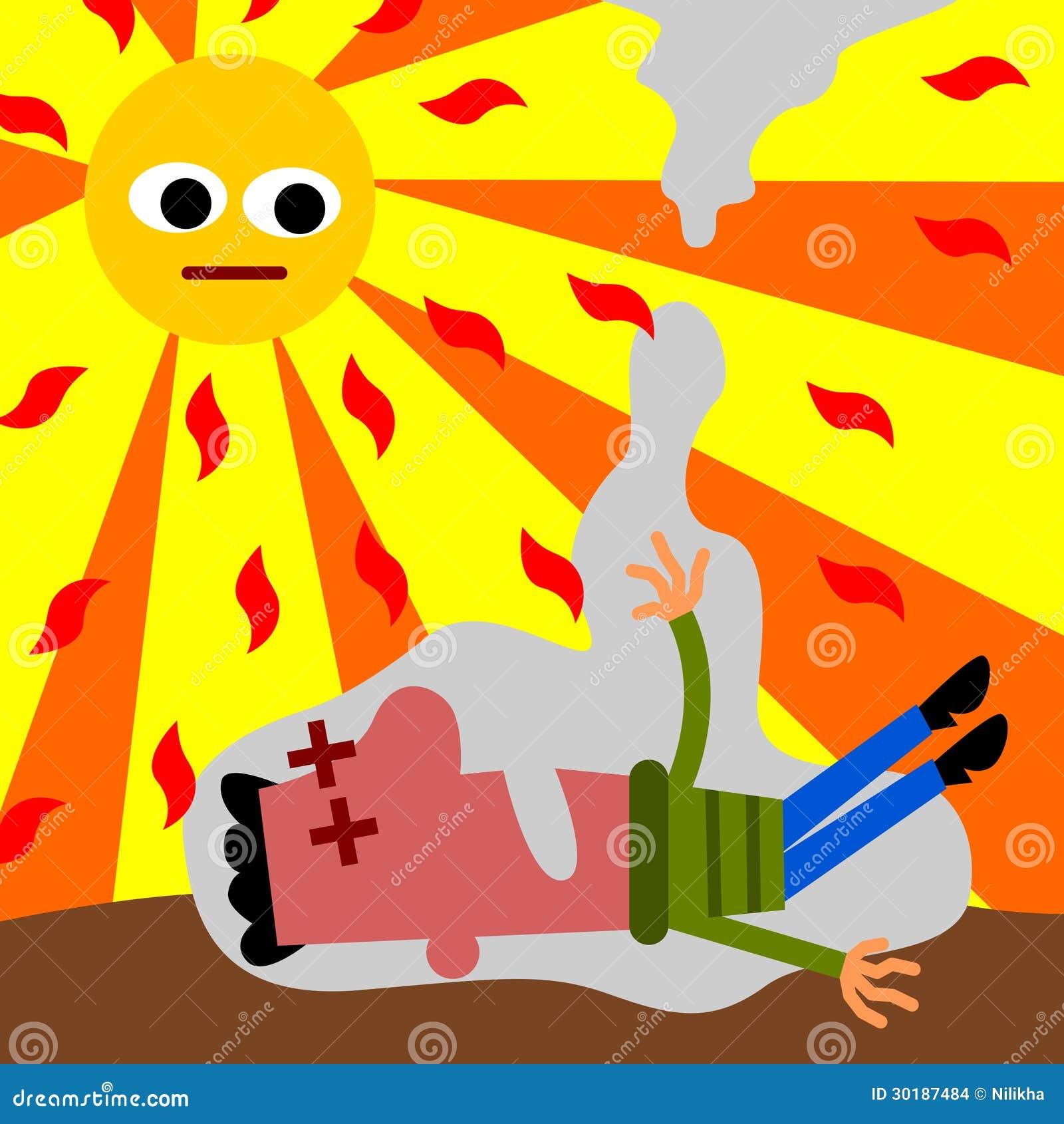 Coup de chaleur images stock image 30187484 - Symptome d un coup de chaleur ...