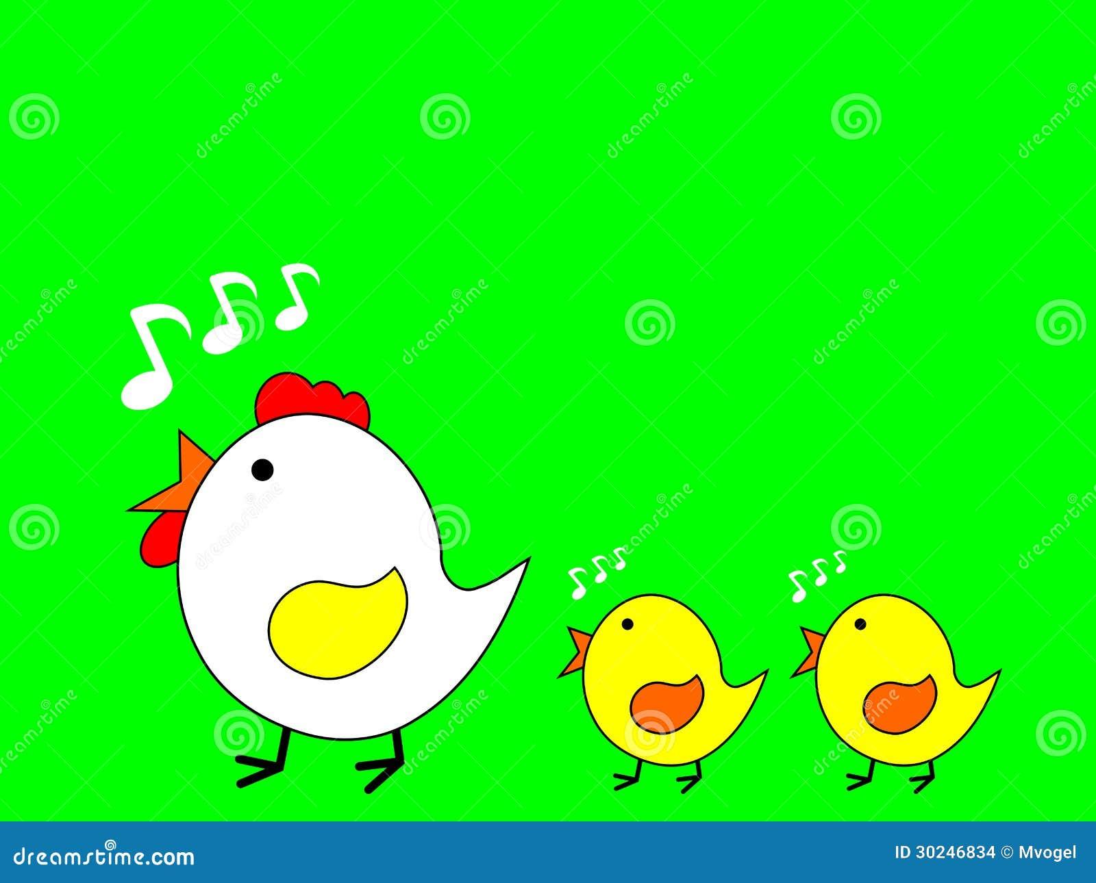 Une m re et ses poussins illustration stock illustration - Image d une poule ...