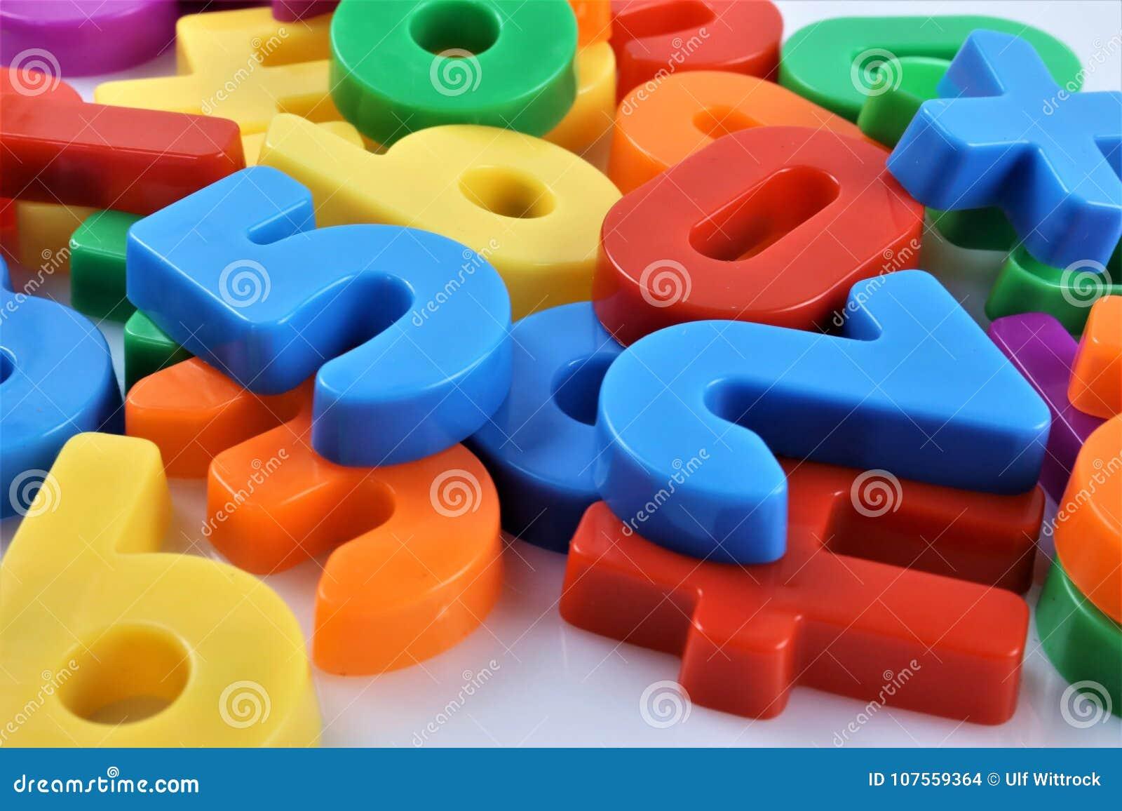Une image de concept des nombres magnétiques