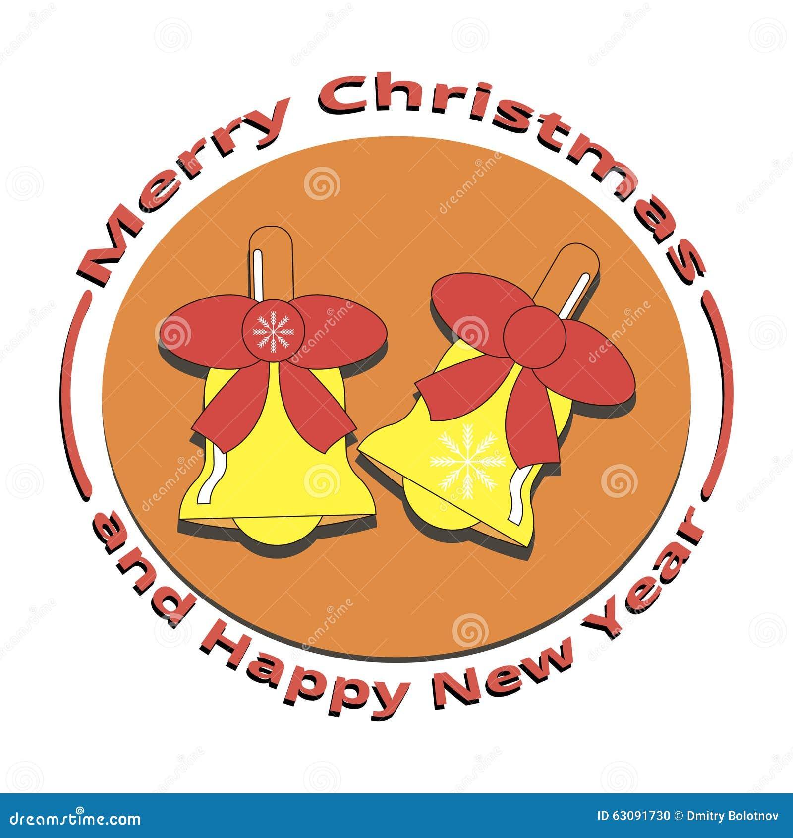 Download Une Image De Deux Cloches Noël Et La Nouvelle Année Illustration de Vecteur - Illustration du image, décembre: 63091730