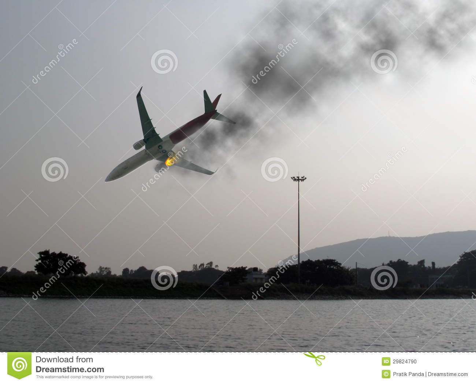 Catastrophe d aviation d accident d avion