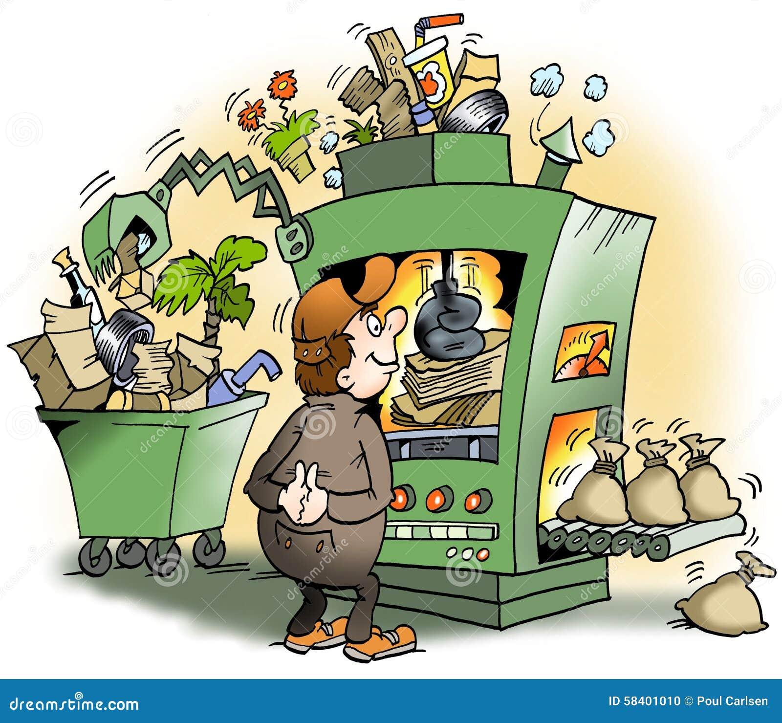 une machine qui produit des d chets pour l 39 argent illustration stock illustration du moneybag. Black Bedroom Furniture Sets. Home Design Ideas