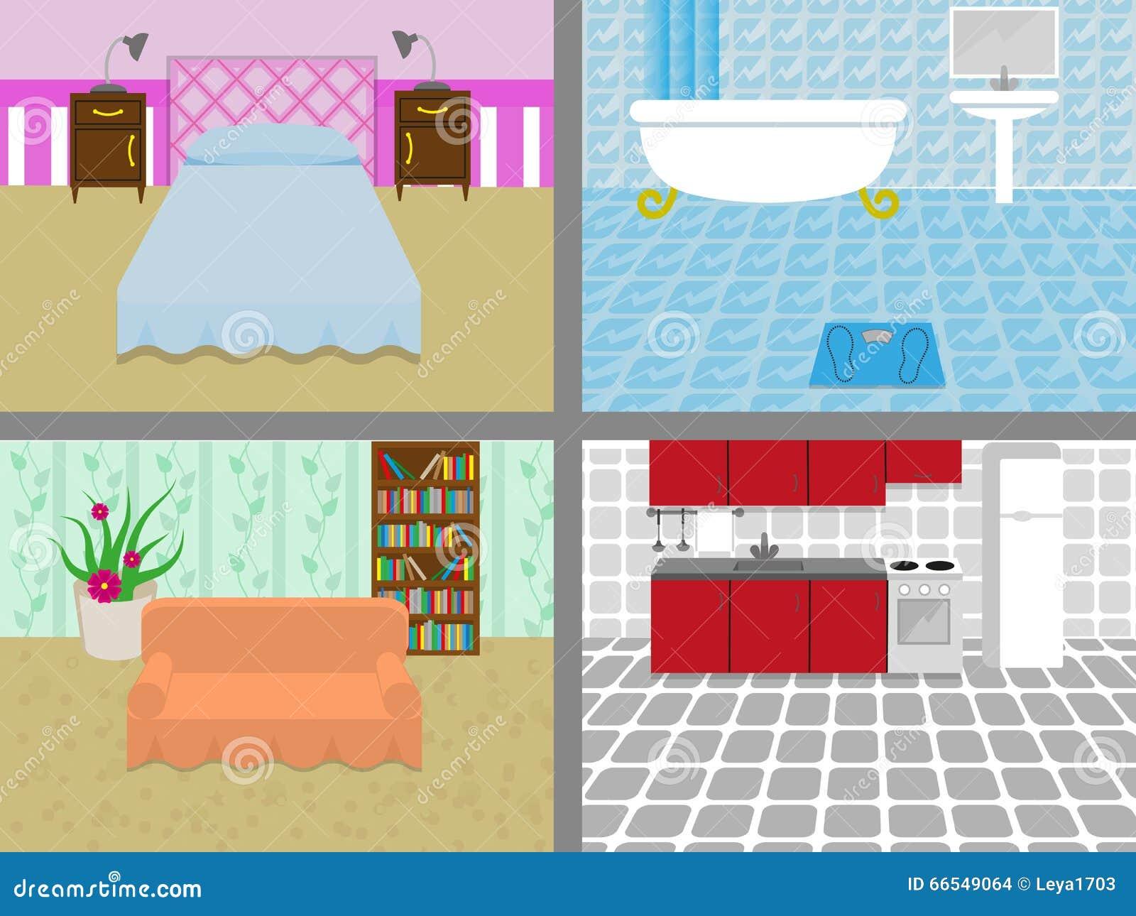 Une maison avec des salles