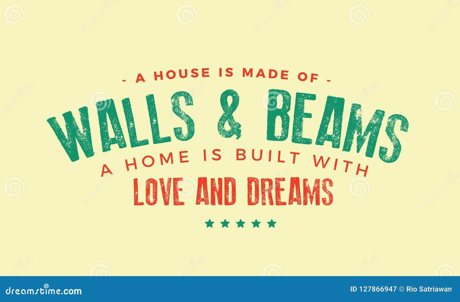 Une maison est faite de murs et faisceaux
