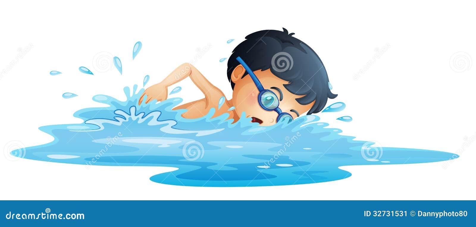 Une natation d enfant