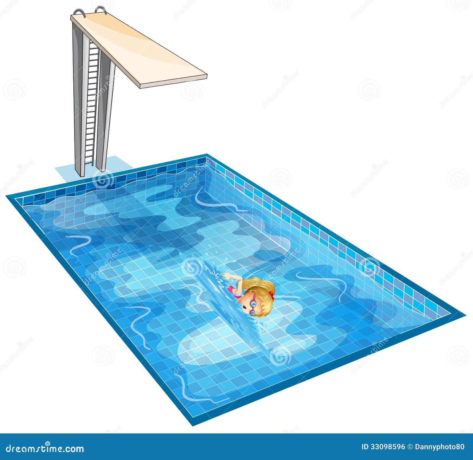 Une natation de fille la piscine avec un conseil de for Piscine xs prix
