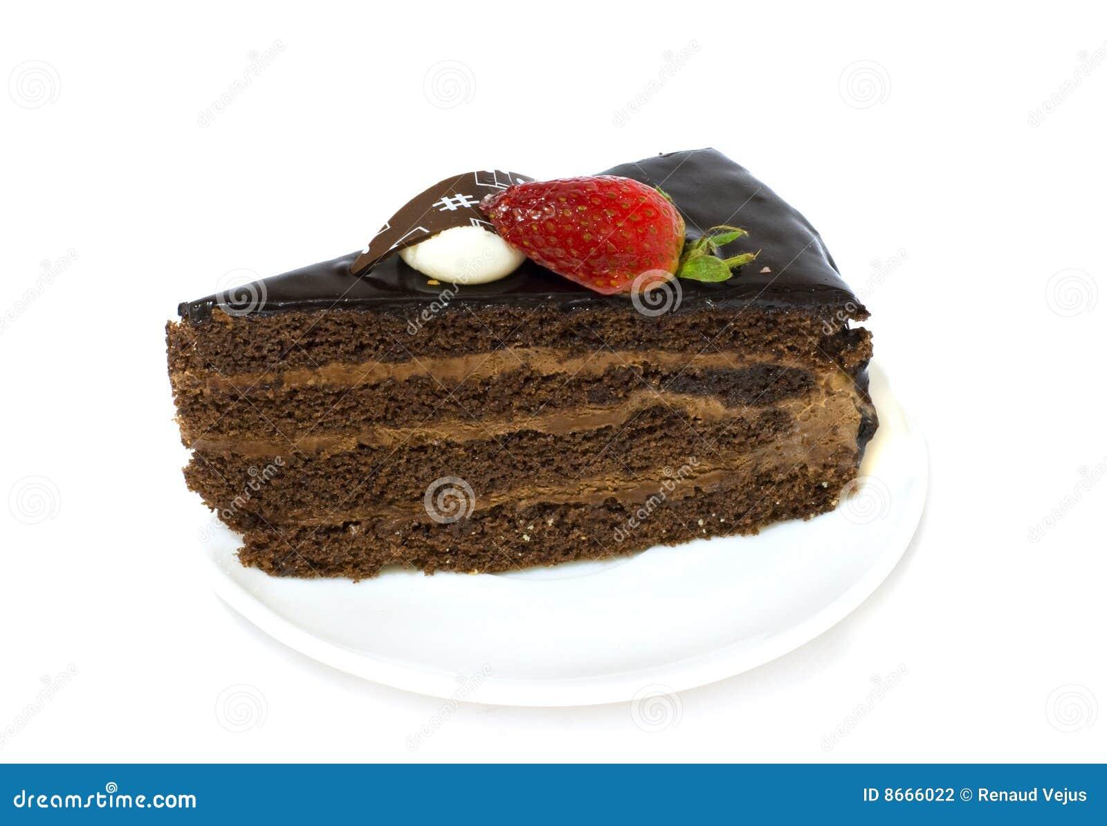 Une part de gâteau de chocolat