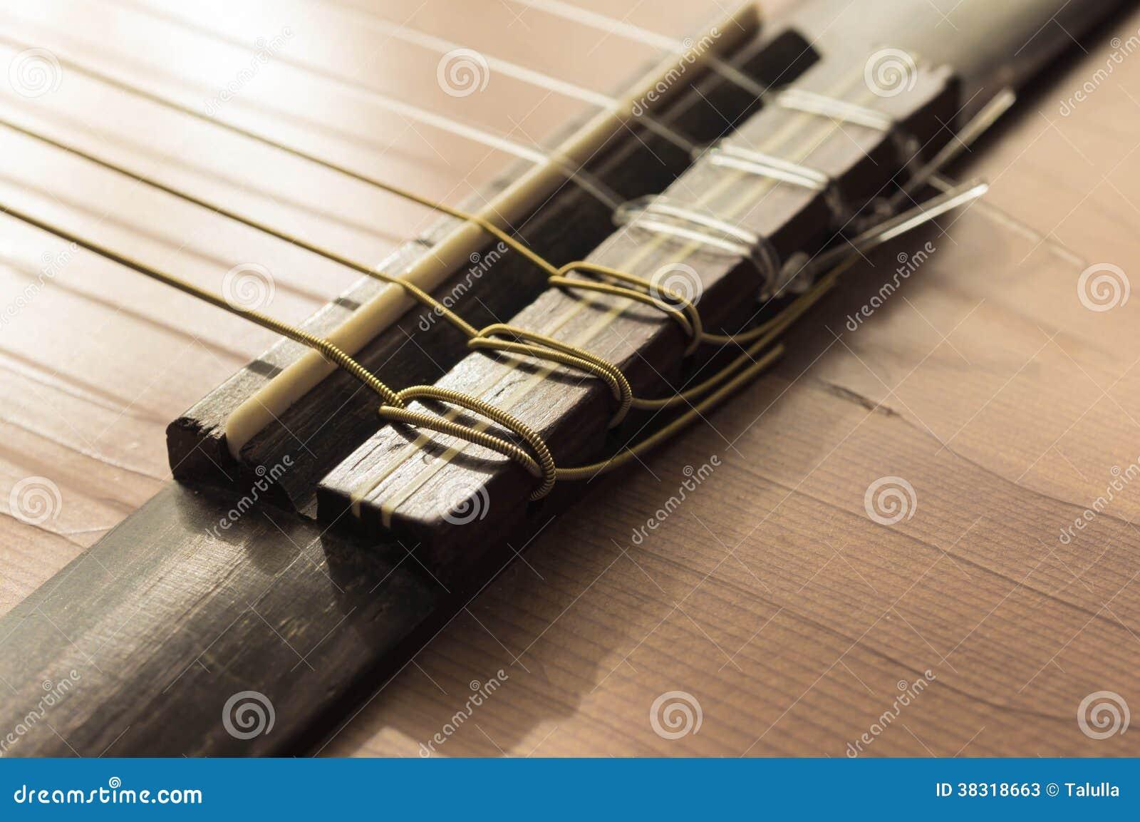 Une partie d 39 une vieille guitare acoustique image stock for Acoustique d une piece