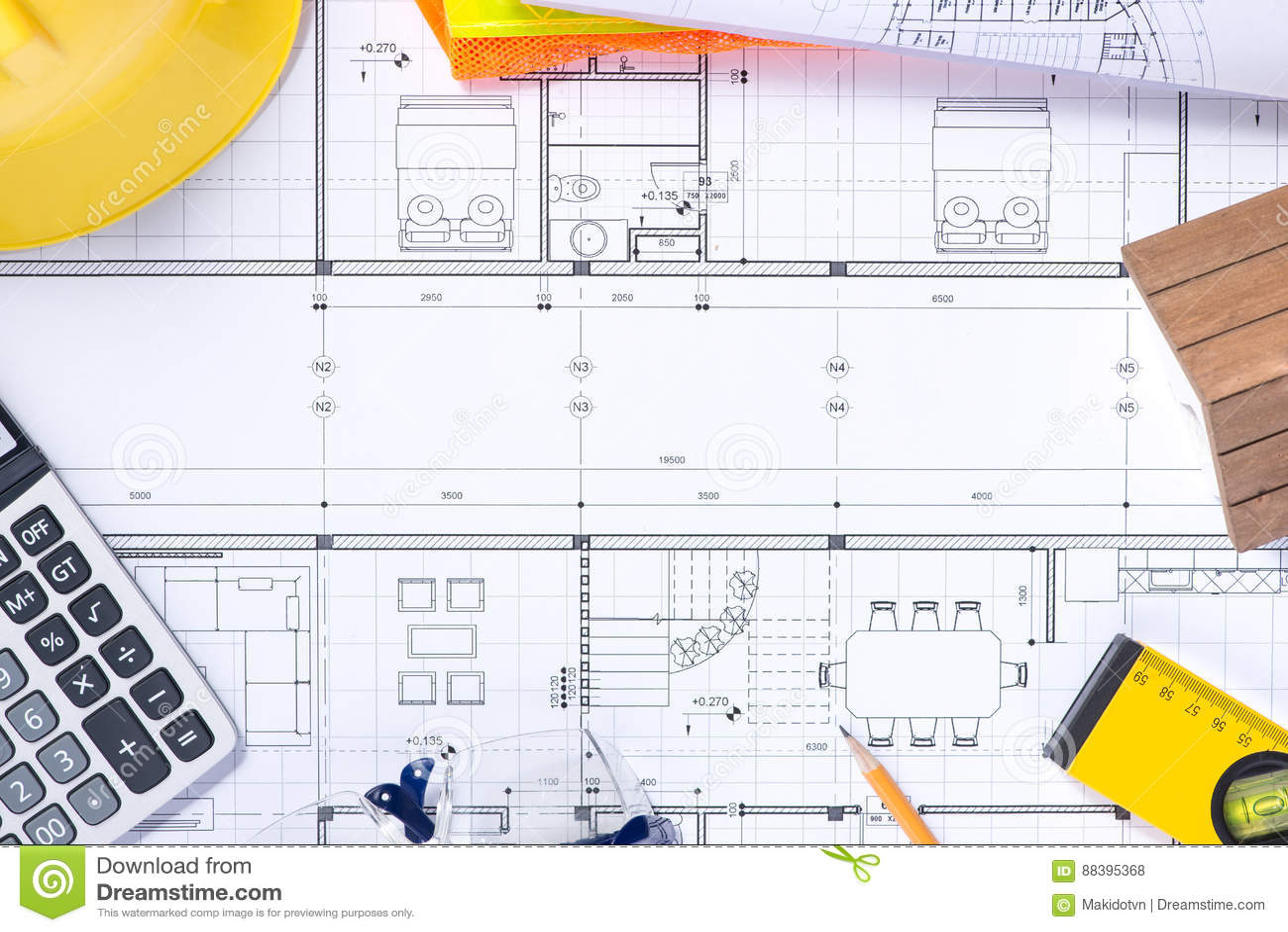 Une partie du projet architectural Outils pour concevoir une nouvelle maison