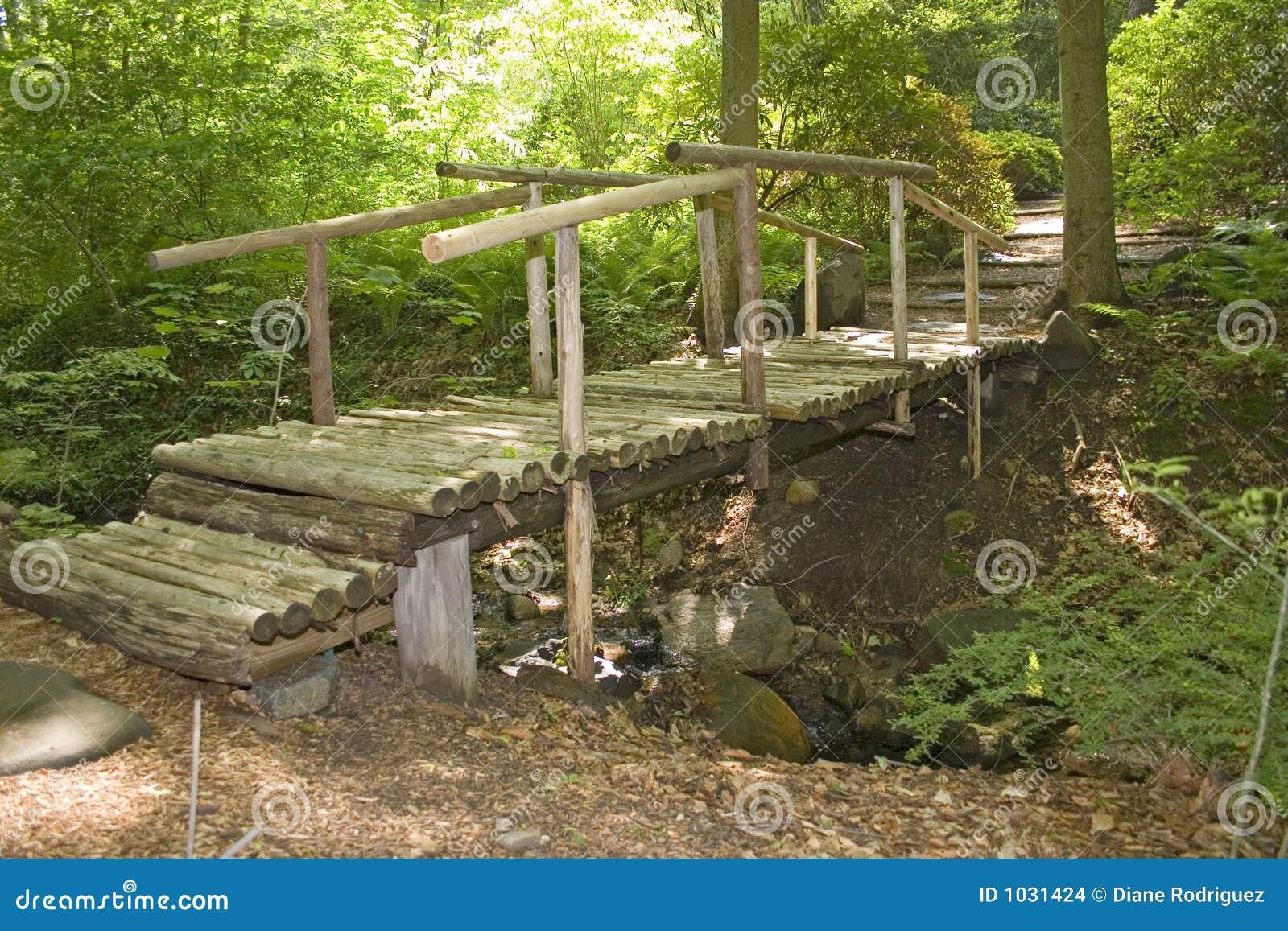 une passerelle en bois dans un jardin japonais photo stock image 1031424. Black Bedroom Furniture Sets. Home Design Ideas