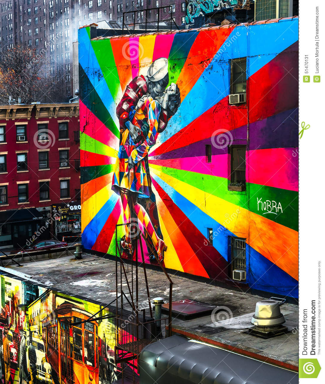 Une peinture murale new york etats unis photo ditorial for Decoration murale geante new york