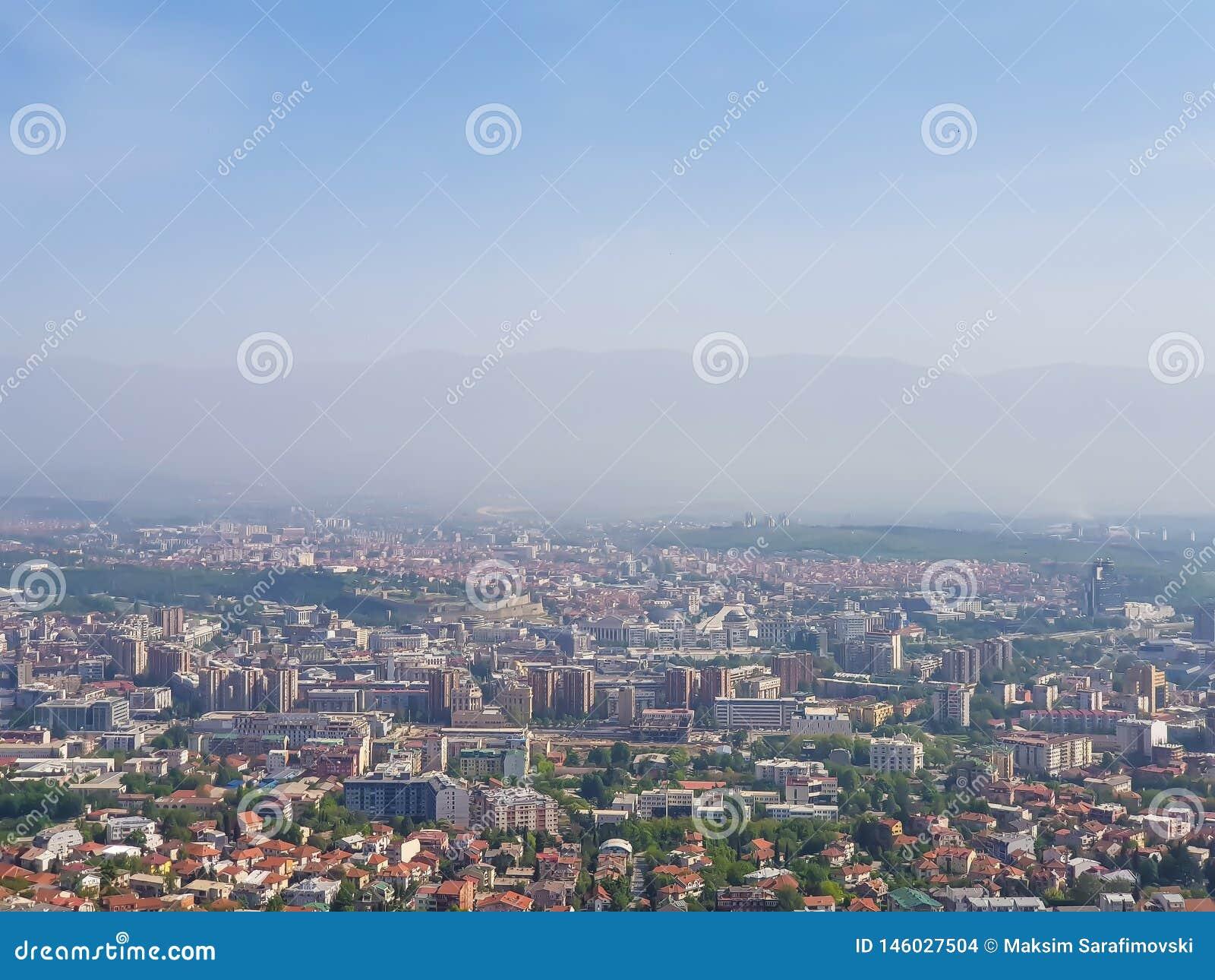 Une photographie de ville de vue aérienne