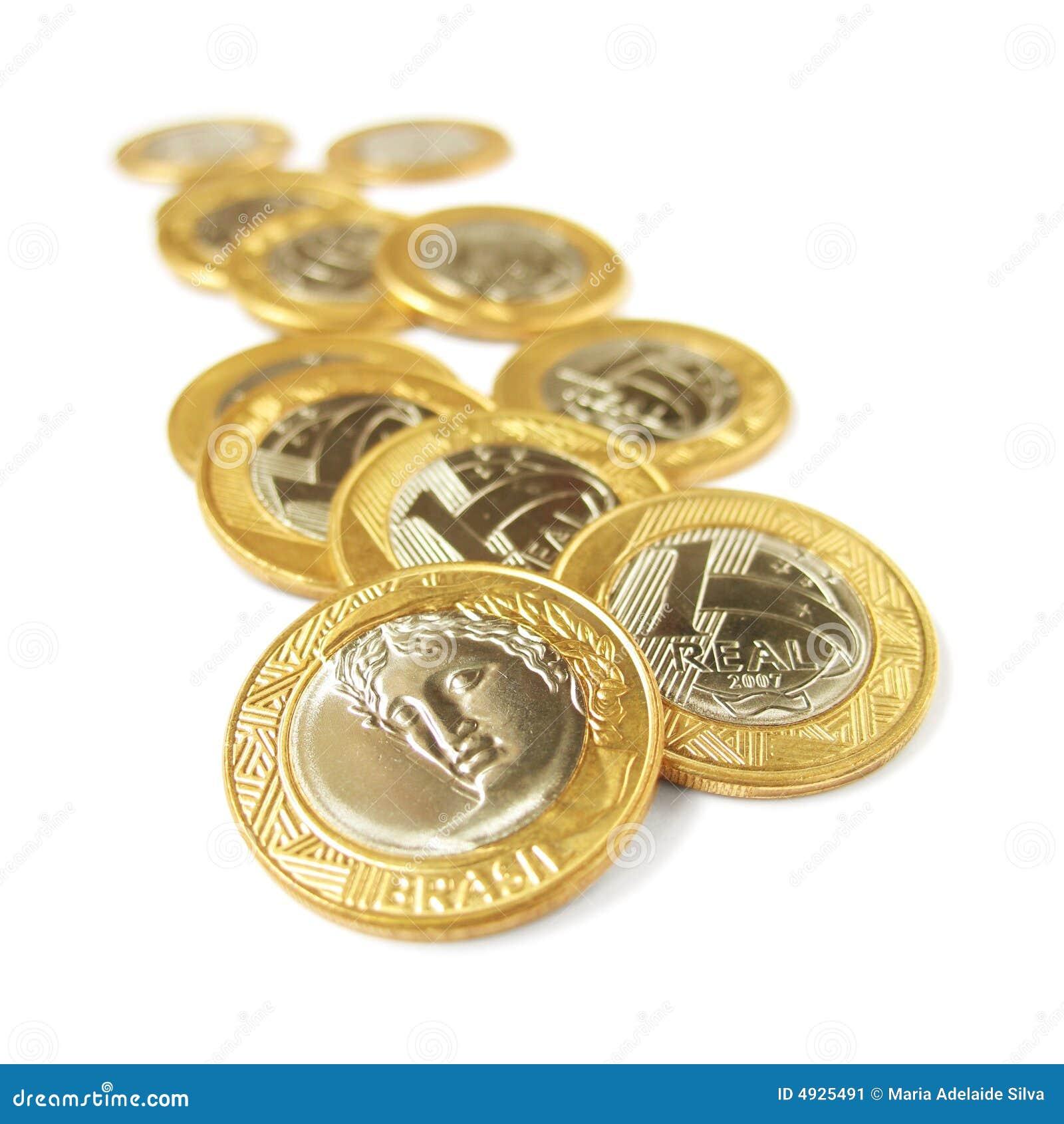 Une pièces de monnaie réelles - 4