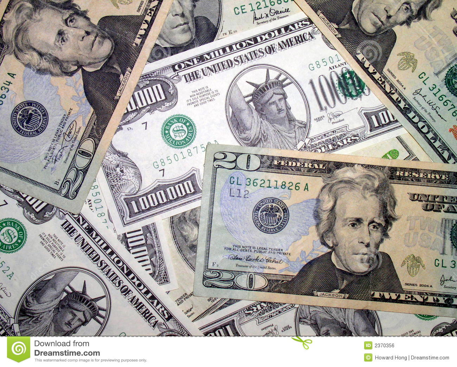 Une pile de dollars US