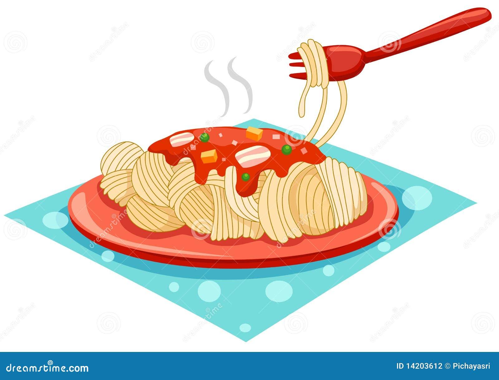 Une plaque des spaghetti avec la fourchette photographie - Faire des pompons avec une fourchette ...
